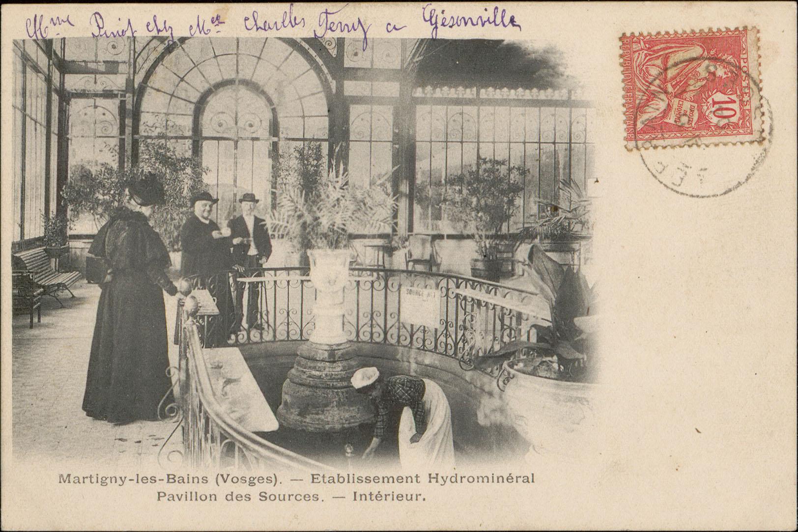 Contenu du Martigny-les-Bains (Vosges), Etablissement Hydrominéral, Pavillon des Sources, Intérieur