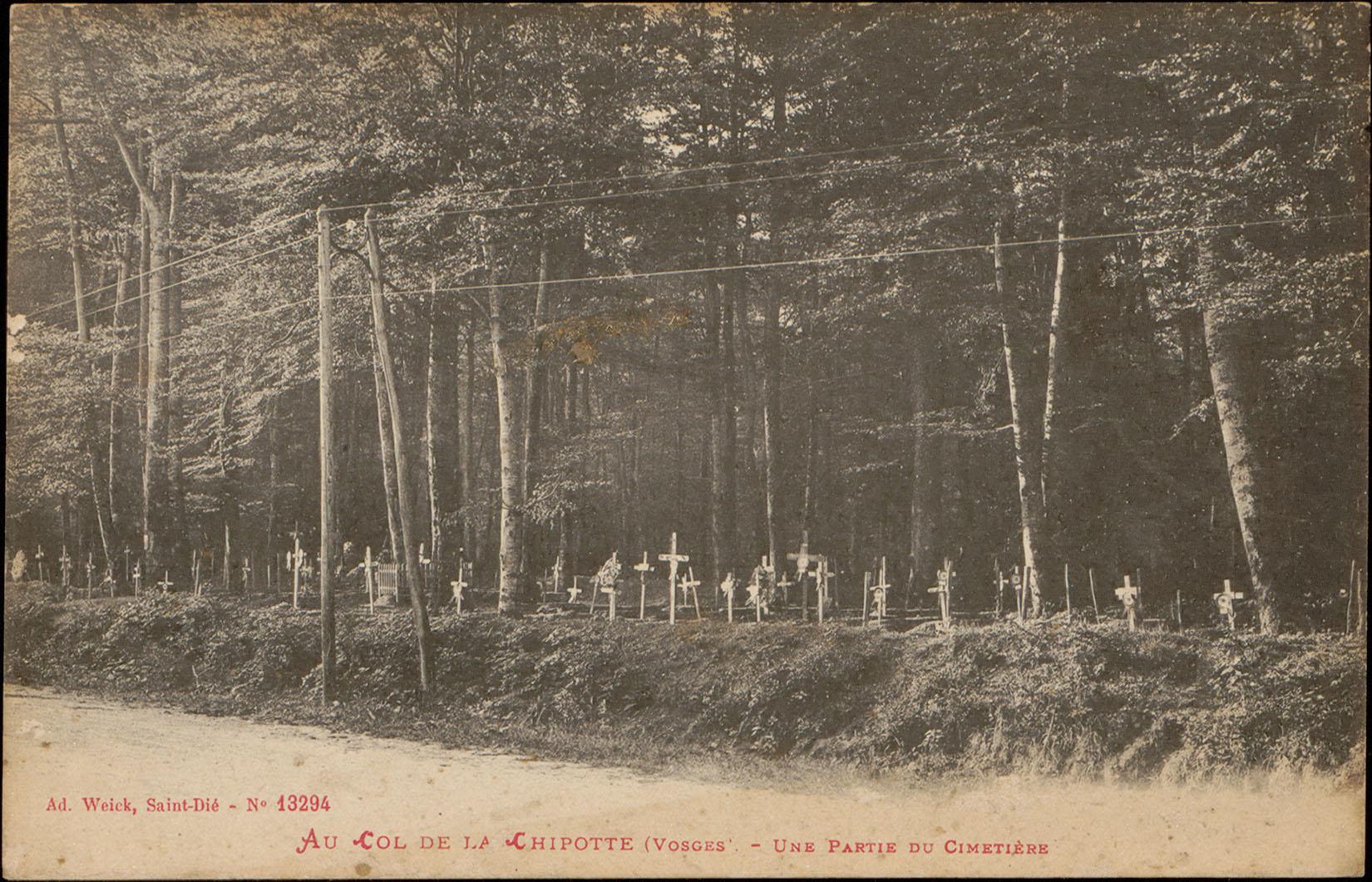 Contenu du Au Col de la Chipotte (Vosges), Une partie du Cimetière
