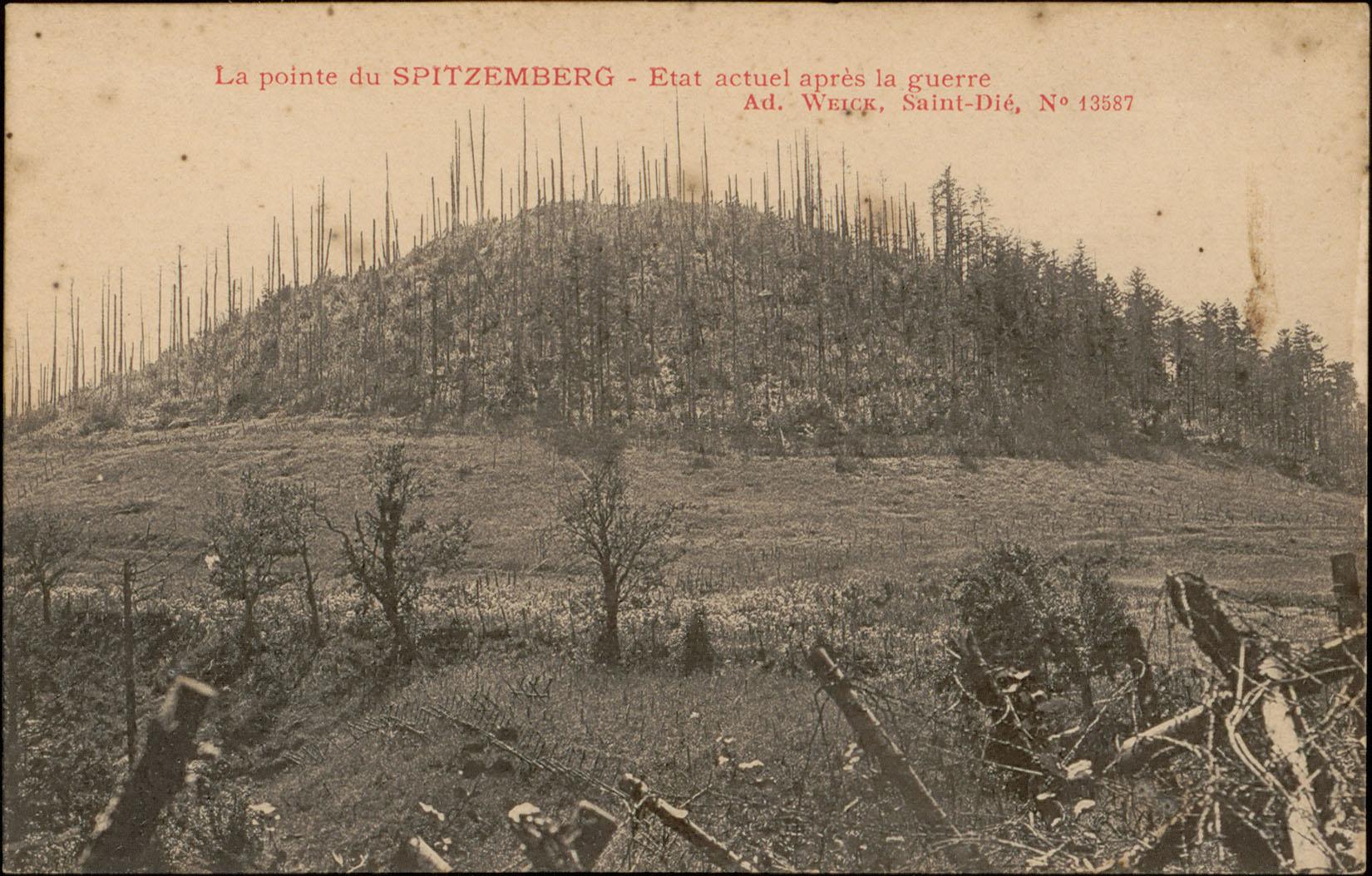 Contenu du La Pointe du Spitzemberg, Etat actuel après la guerre