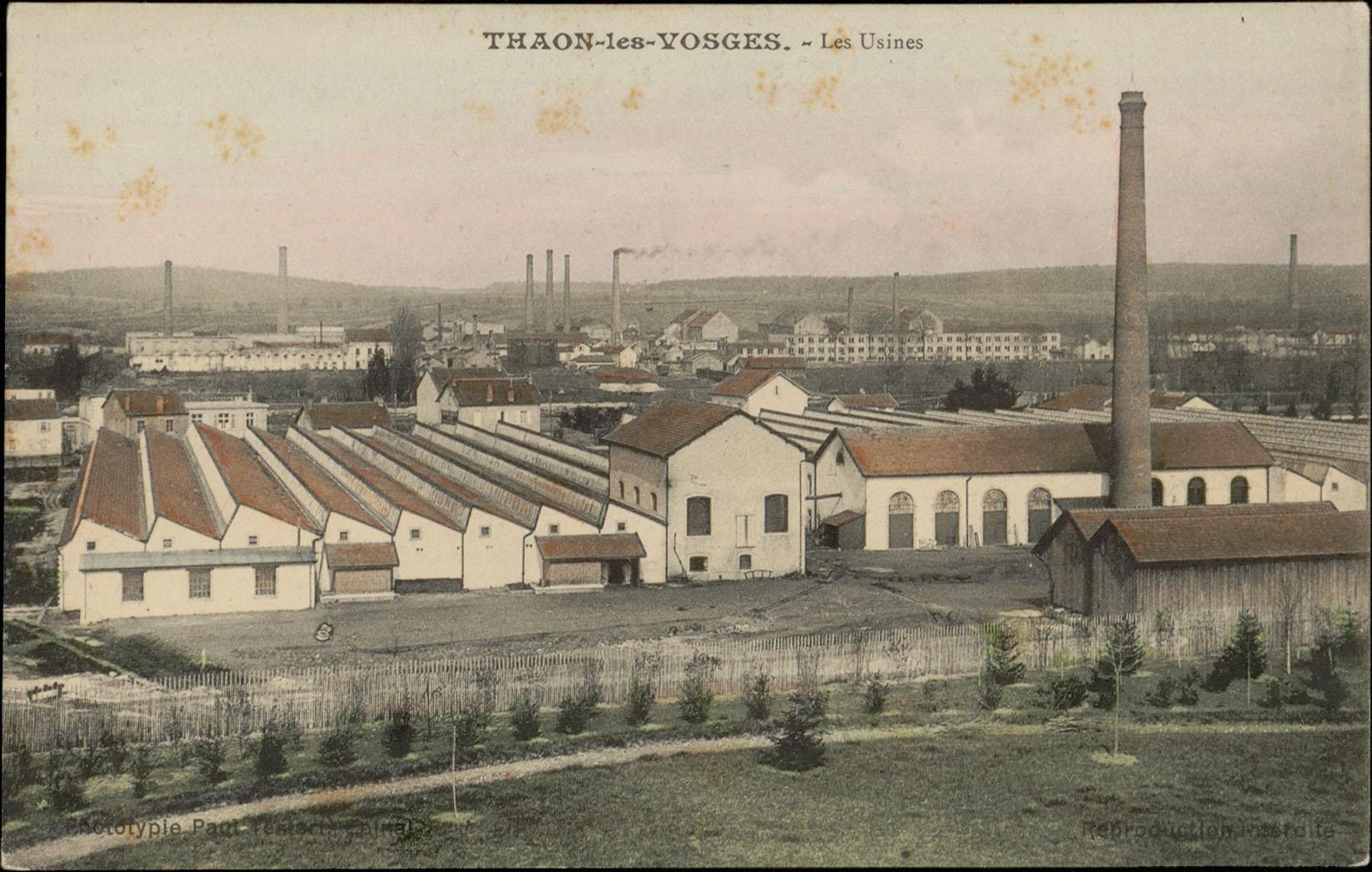 Contenu du Thaon-les-Vosges, Les Usines