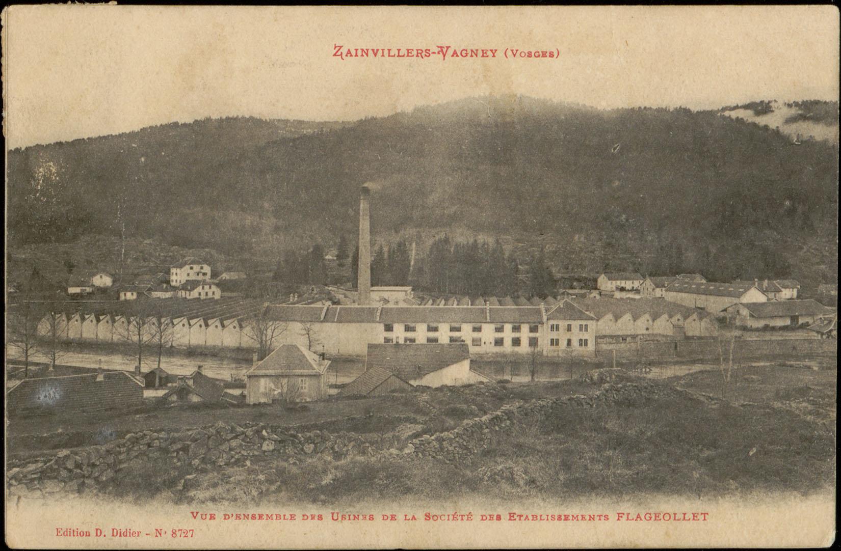 Contenu du Zainvillers-Vagney (Vosges), Vue d'ensemble des Usines de la Société des Etablissement Flageollet