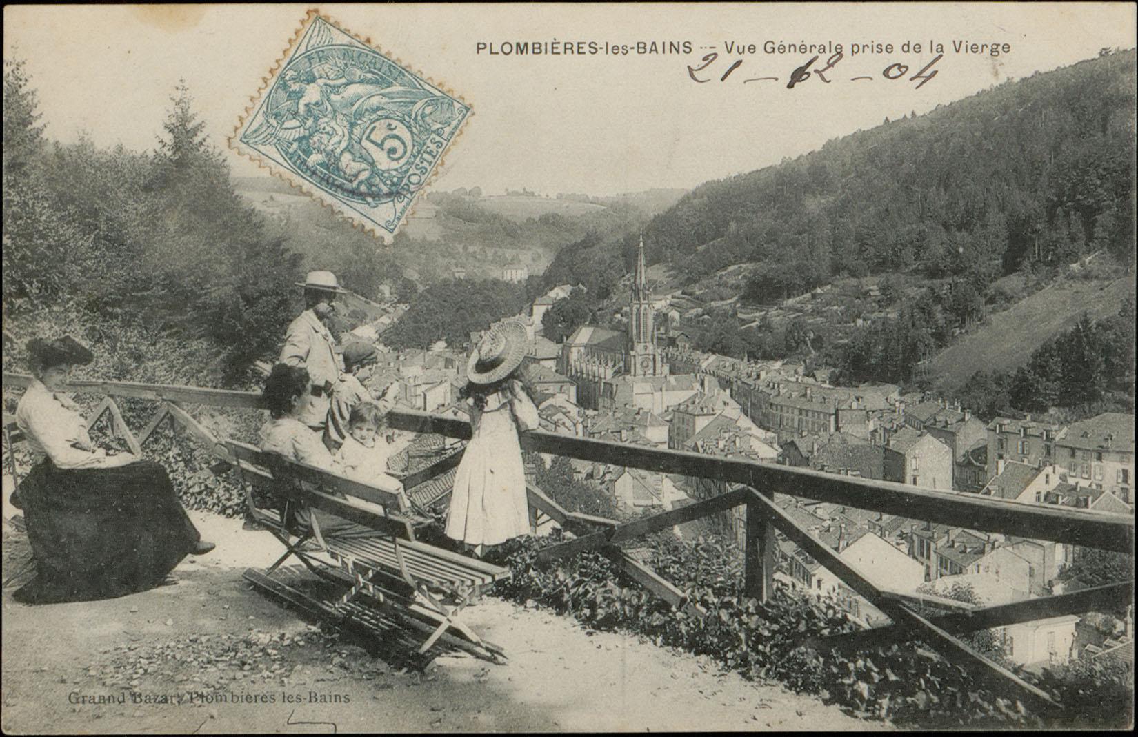 Contenu du Plombières-les-Bains, Vue générale prise de la Vierge