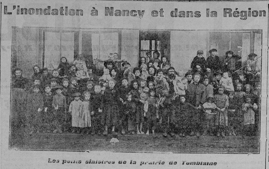 Contenu du L'inondation à Nancy et dans la région