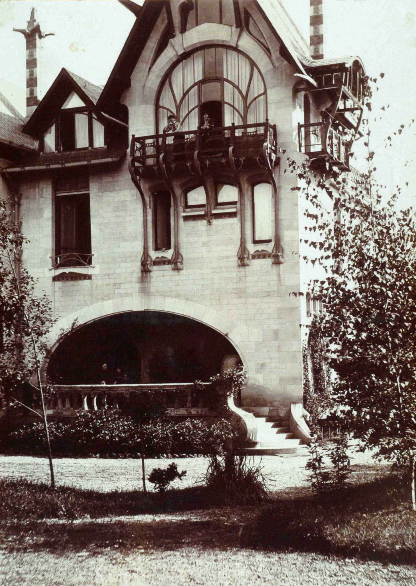Contenu du Détail de la façade nord de la Villa Majorelle