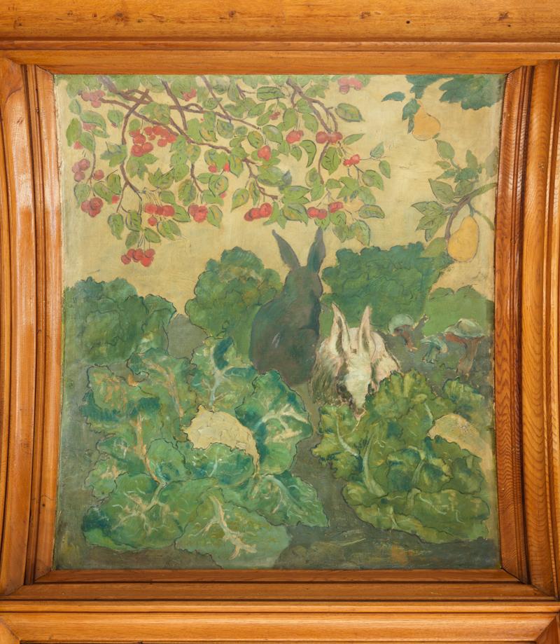 Contenu du Détail de la peinture de Francis Jourdain pour la salle à manger de la Villa Majorelle
