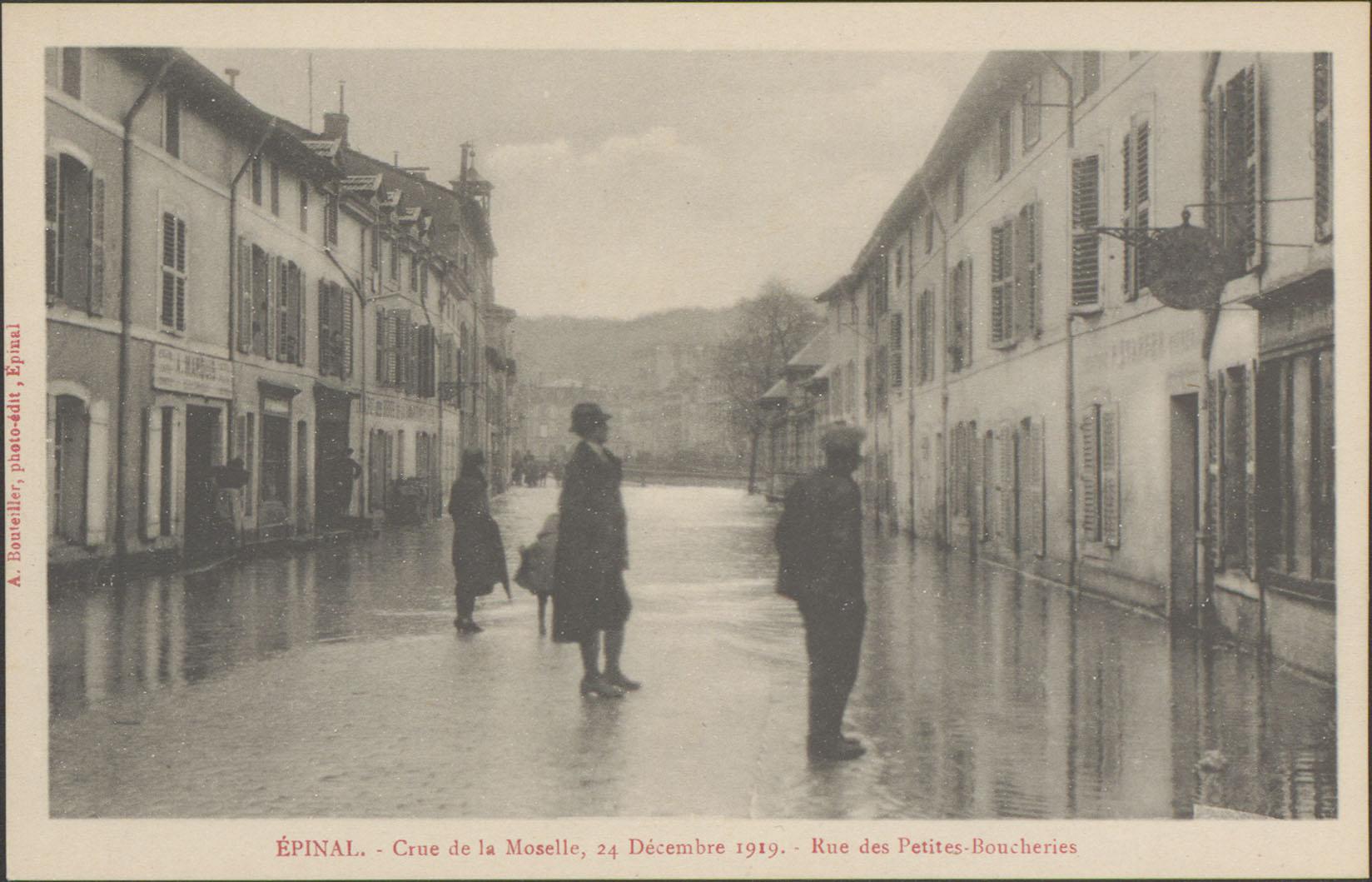 Contenu du Epinal, Crue de la Moselle, 24 Décembre 1919, Rue des Petites Boucheries