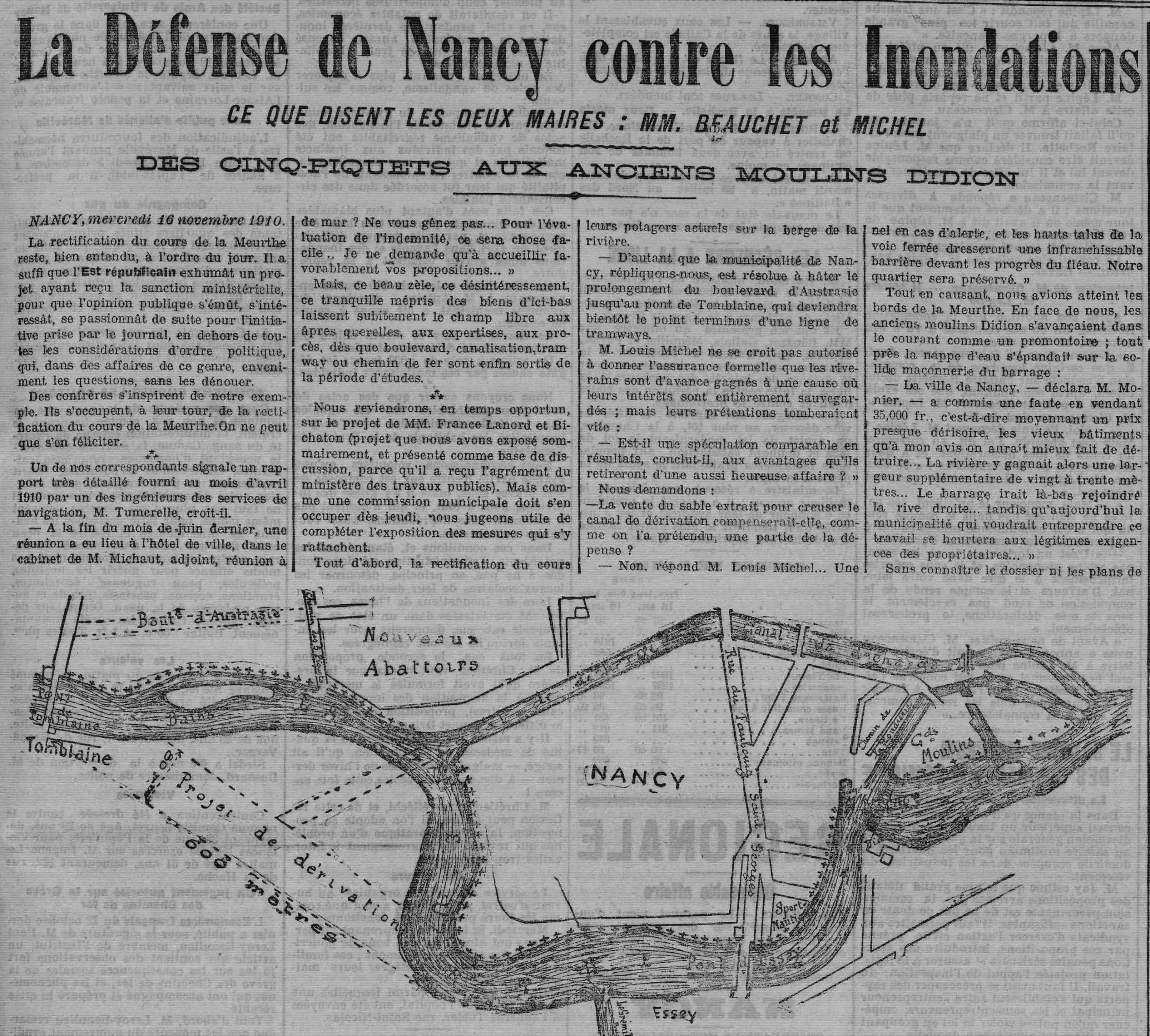Contenu du L'Est Républicain, 17 Novembre 1910