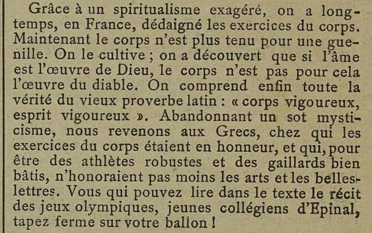 Contenu du Grâce à un spiritualisme exagéré... - Mémorial des Vosges, 06/06/1890