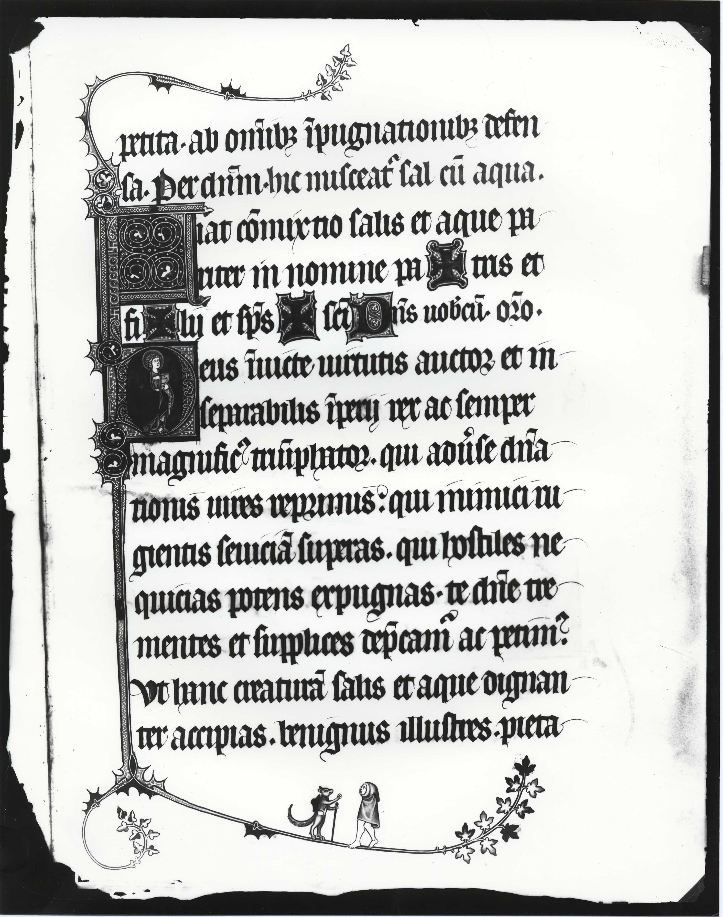 Contenu du Pontificale Rituale Metense (MS 043)  Clichés légués par l'abbé Weber. Partie conservée en Angleterre, publiée en 1902 par E. S. Dewick