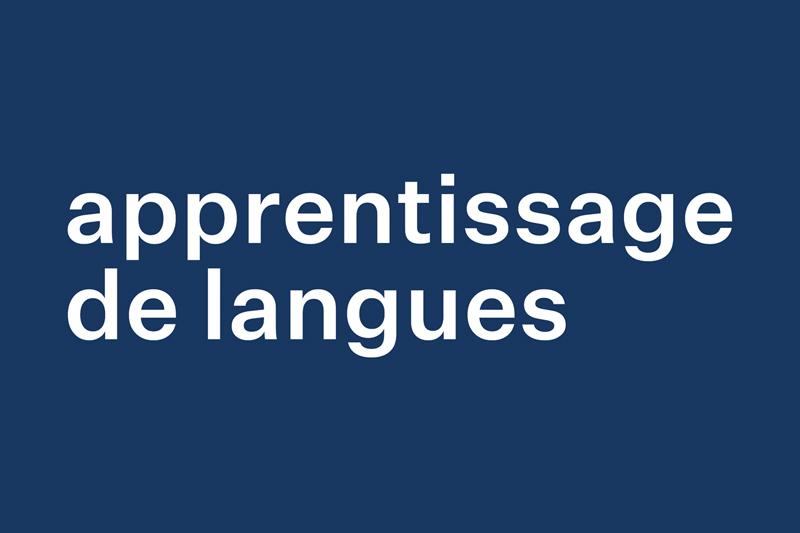 Apprentissage de langues
