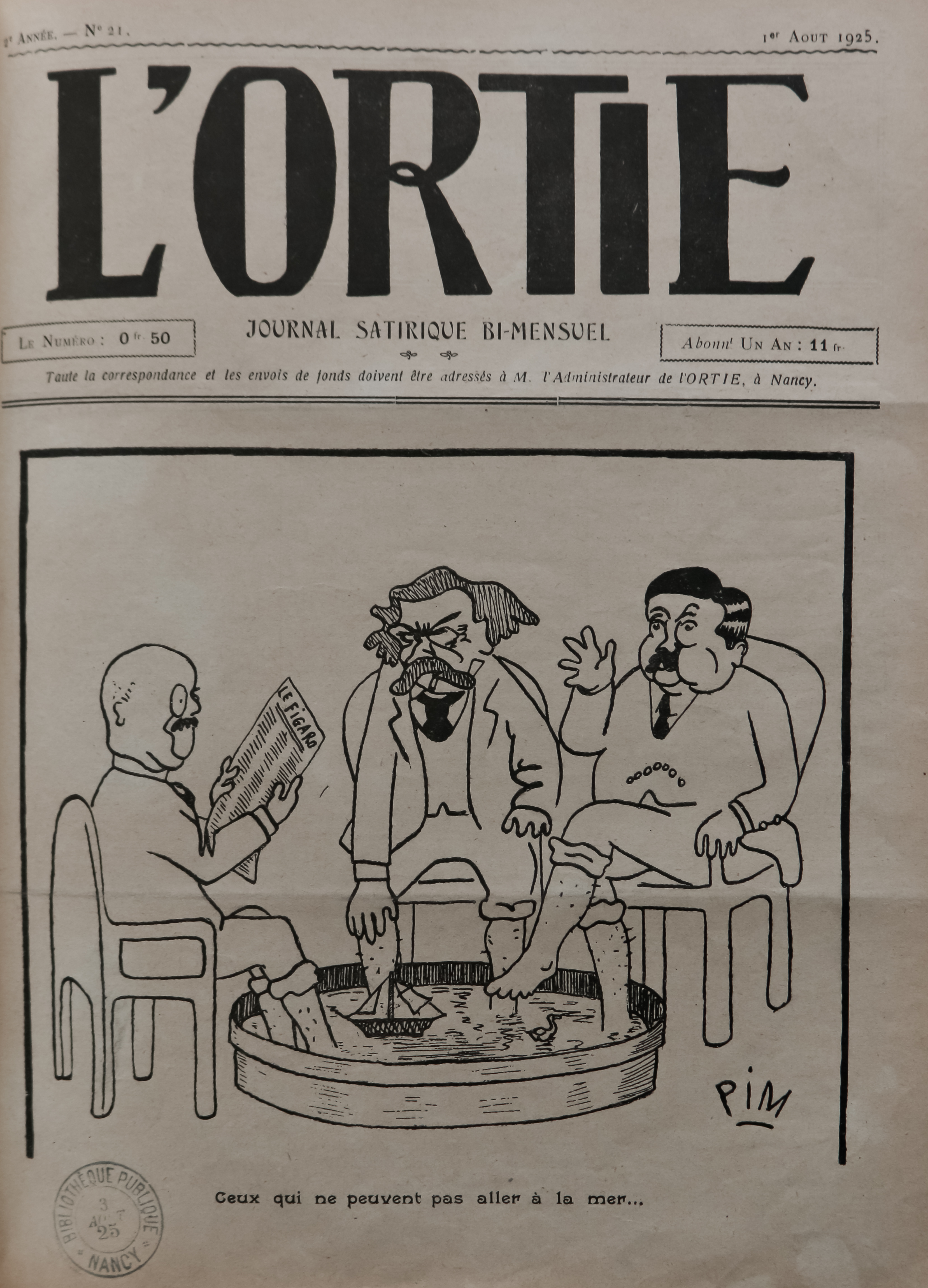 Contenu du L'ortie : No. 21, p. 1