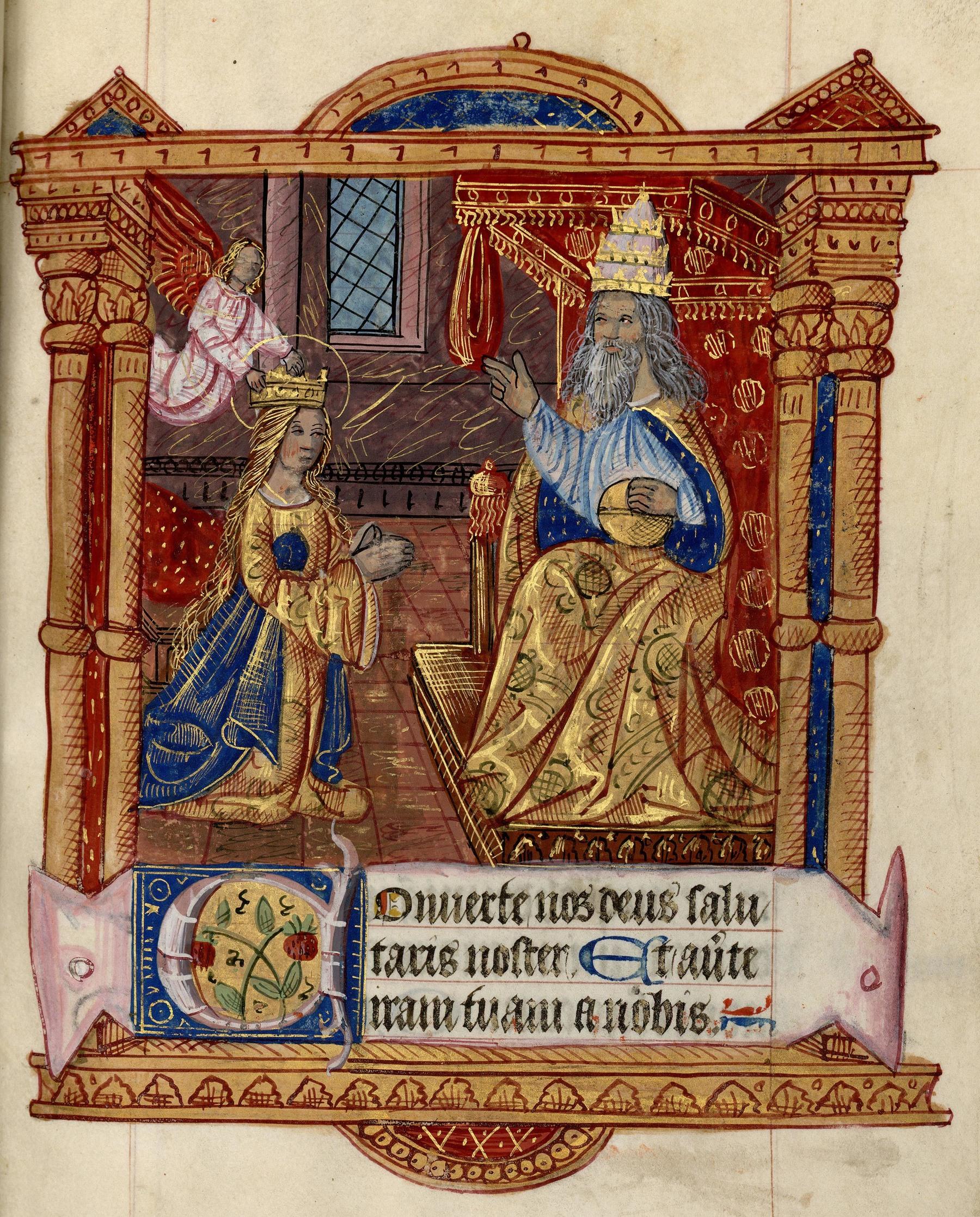 Contenu du Couronnement de la Vierge