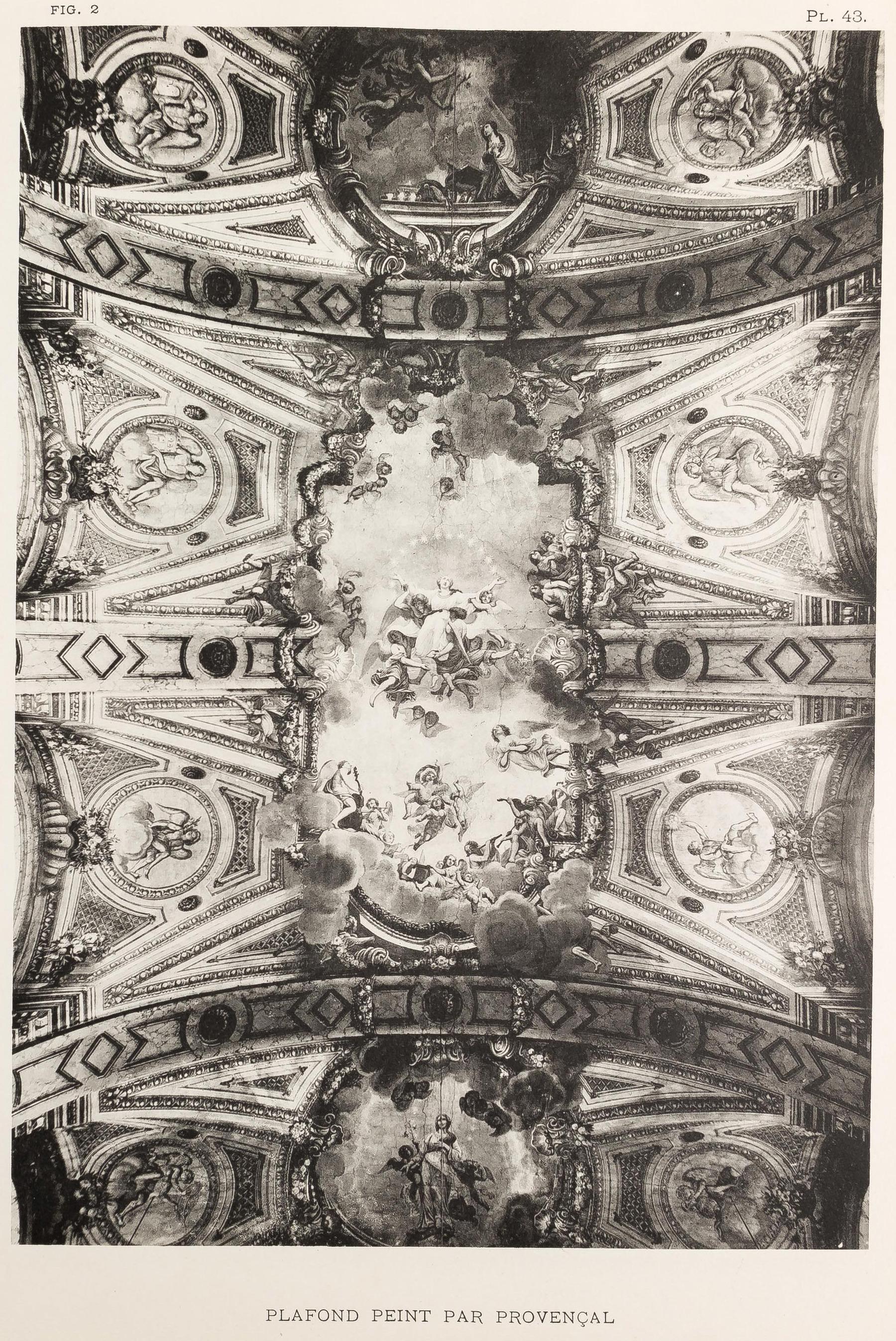 Contenu du Bonsecours : plafond peint par Provençal