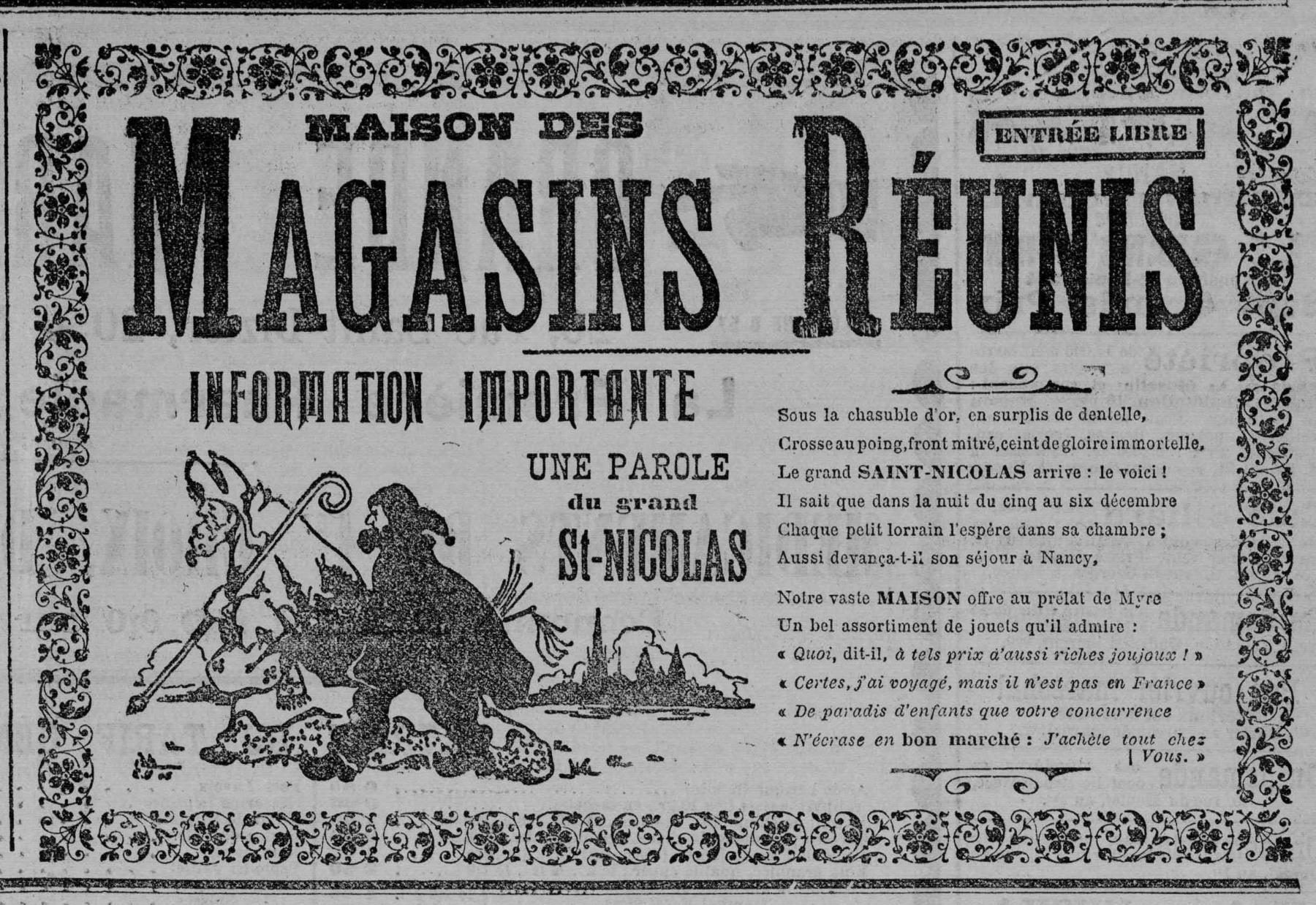 Contenu du Maison des Magasins réunis: Information importante, une parole du grandSaint Nicolas