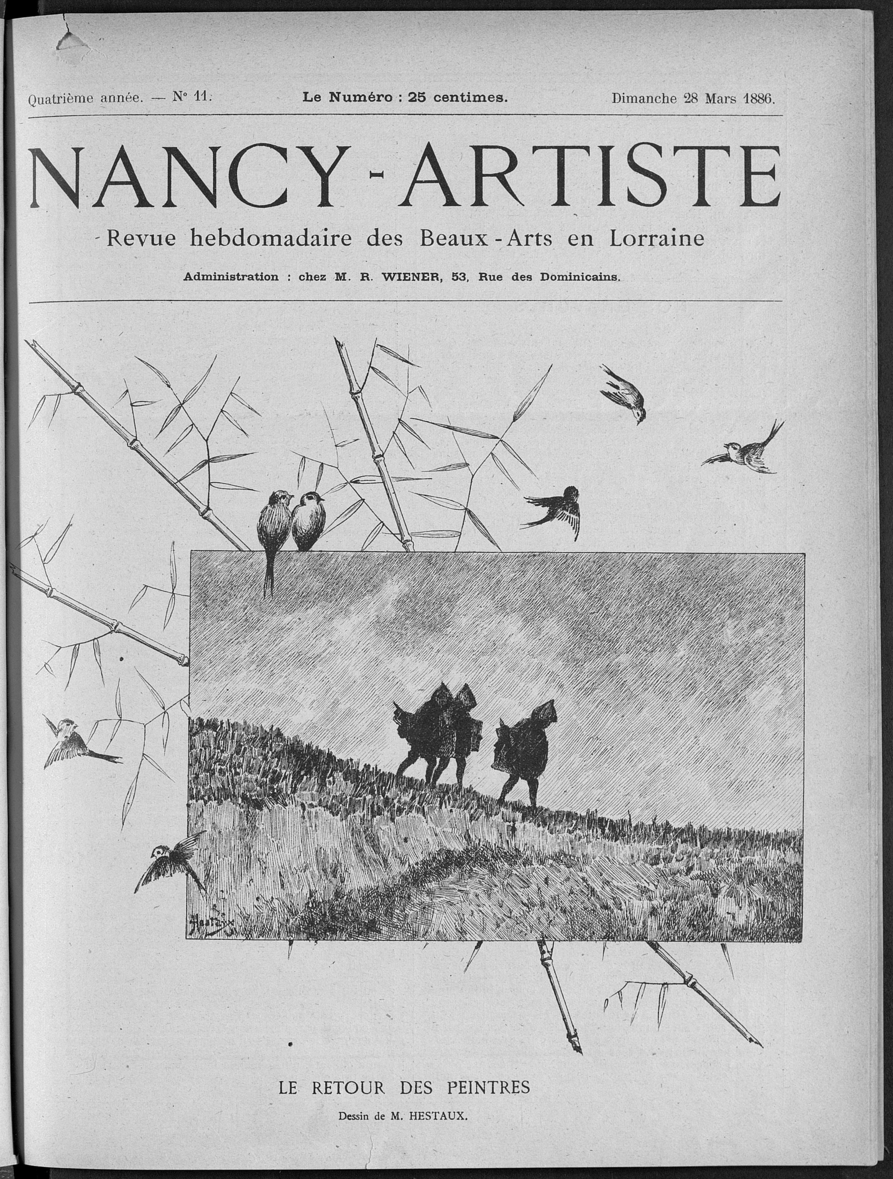 Contenu du Nancy artiste : revue hebdomadaire de la musique & des beaux-arts