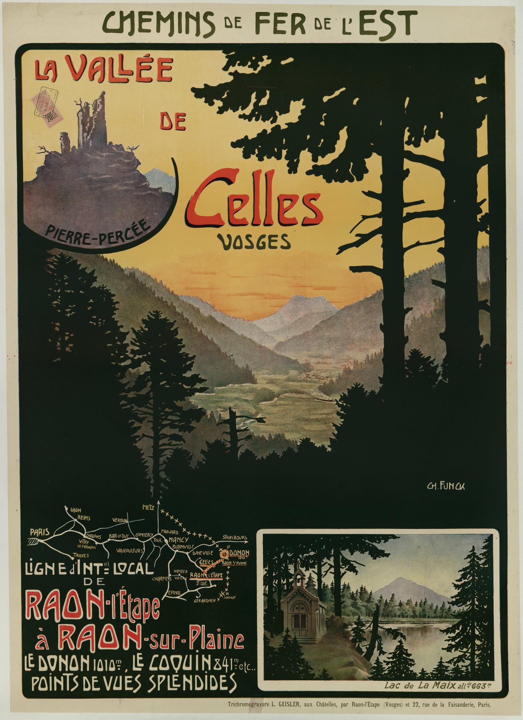 Contenu du Chemins de Fer de l'Est : La vallée de Celles Vosges. Ligne d'intérêt local de Raon l'Etape à Raon-sur-Plaine