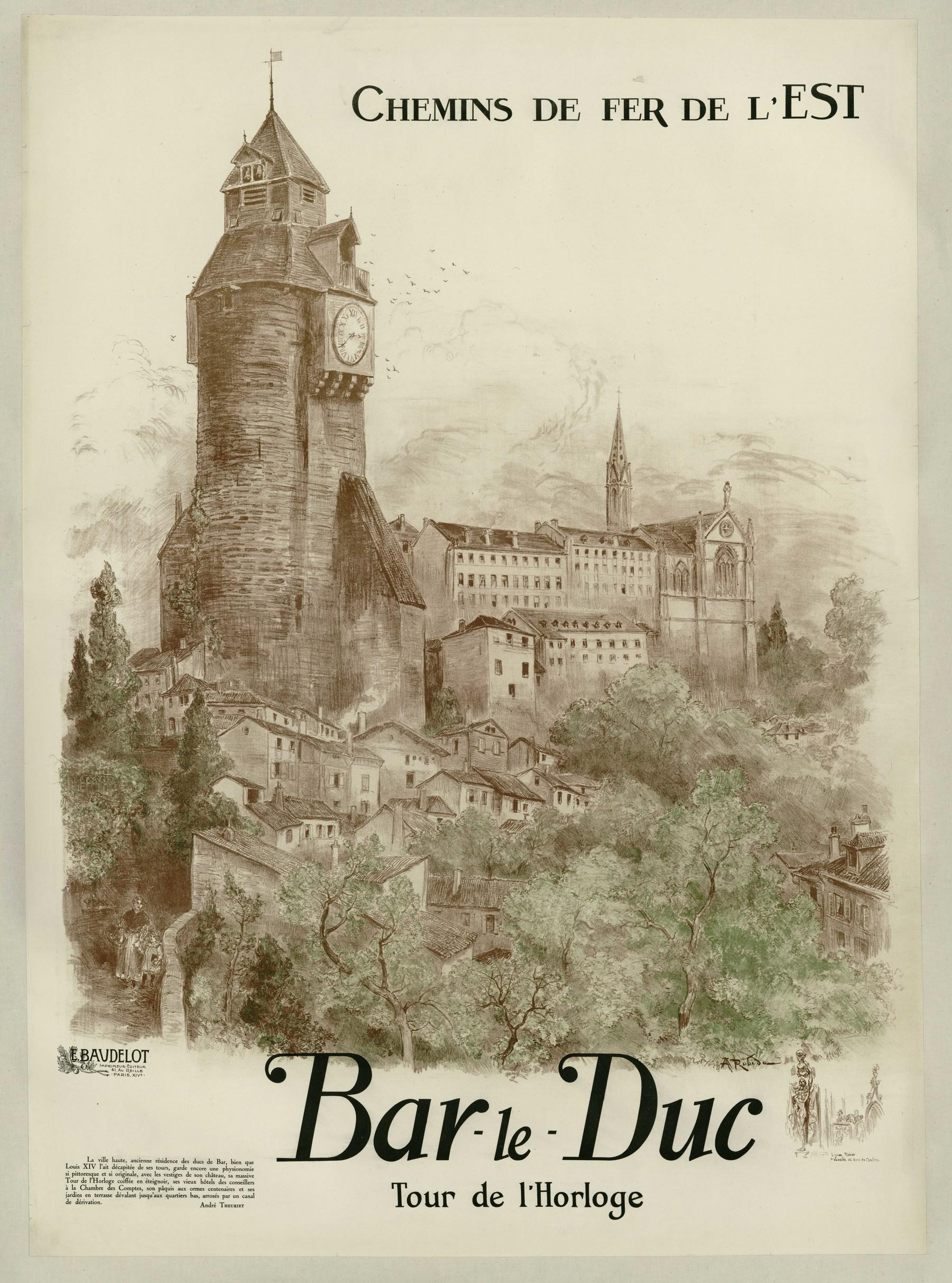 Contenu du Chemins de Fer de l'Est : Bar-le-Duc Tour de l'Horloge