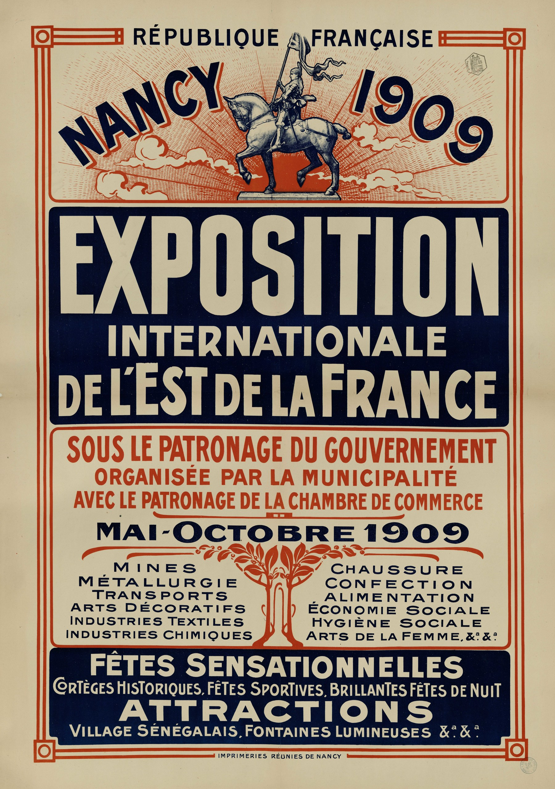Contenu du Nancy 1909 Exposition Internationale de l'Est de la France