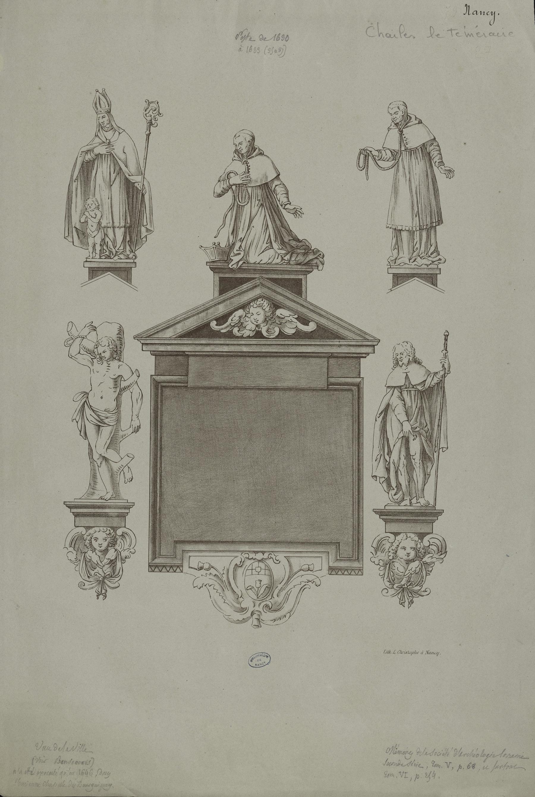 Contenu du Ex-voto de Notre-Dame de Bonsecours contre la peste de 1630