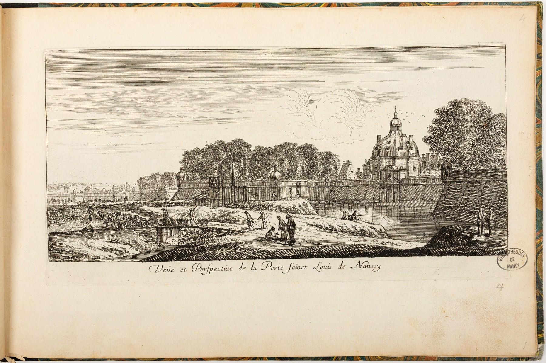 Contenu du Veüe et Perspective de la Porte Sainct Louis de Nancy
