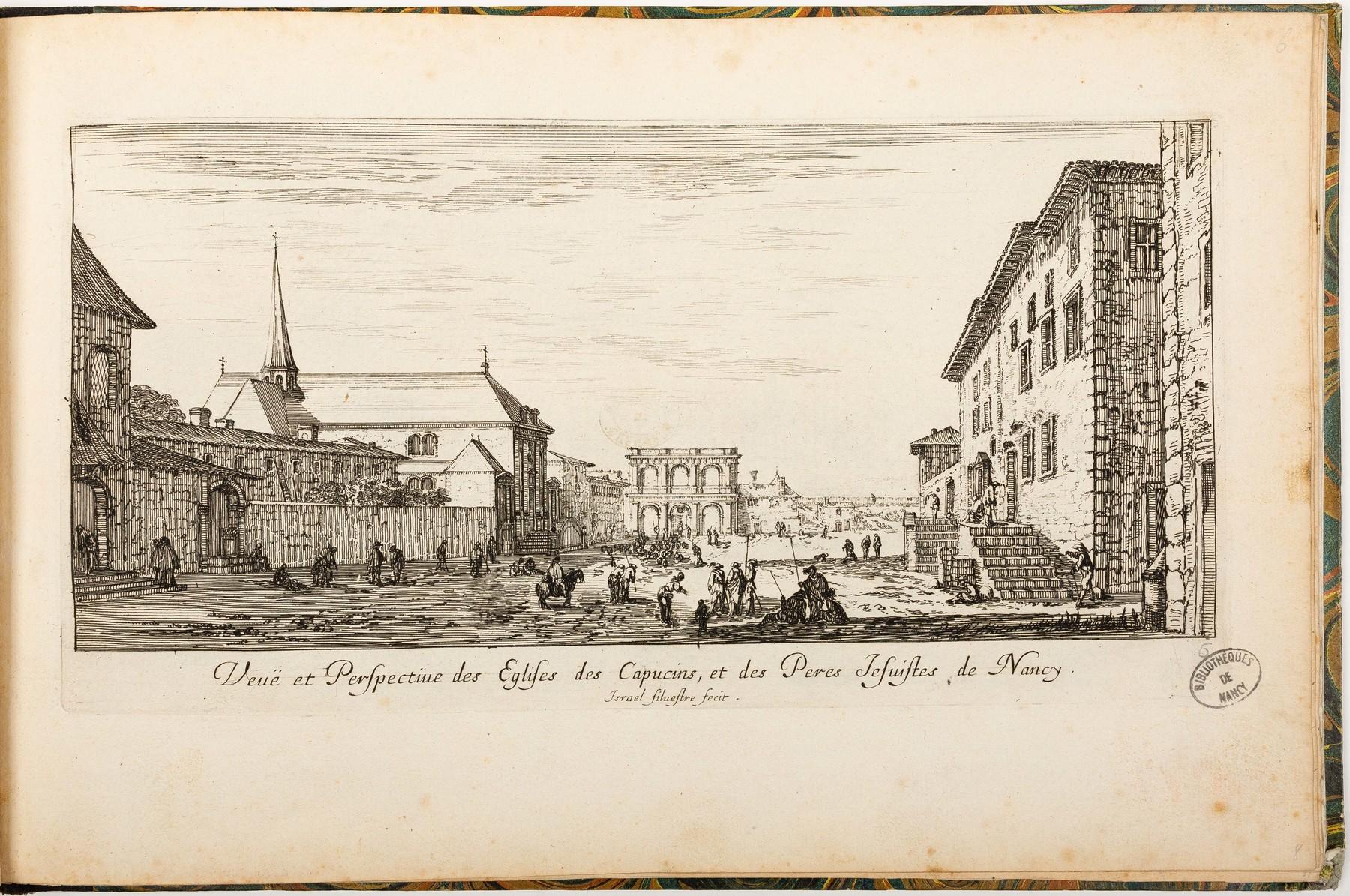 Contenu du Veuë et Perspective des Eglises des Capucins, et des Peres Jesuites de Nancy