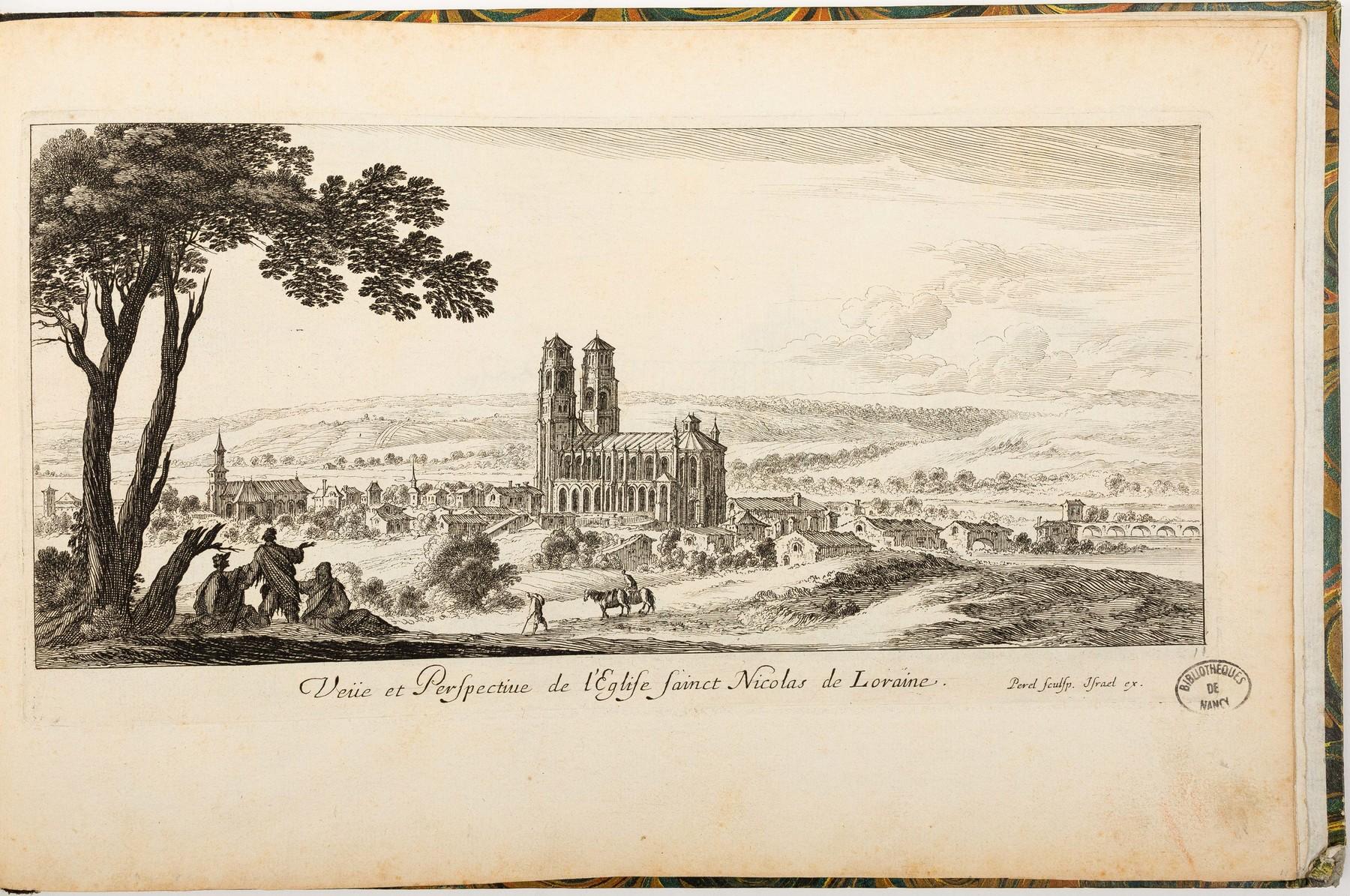 Contenu du Veüe et Perspective de l'Église Sainct Nicolas de Loraine