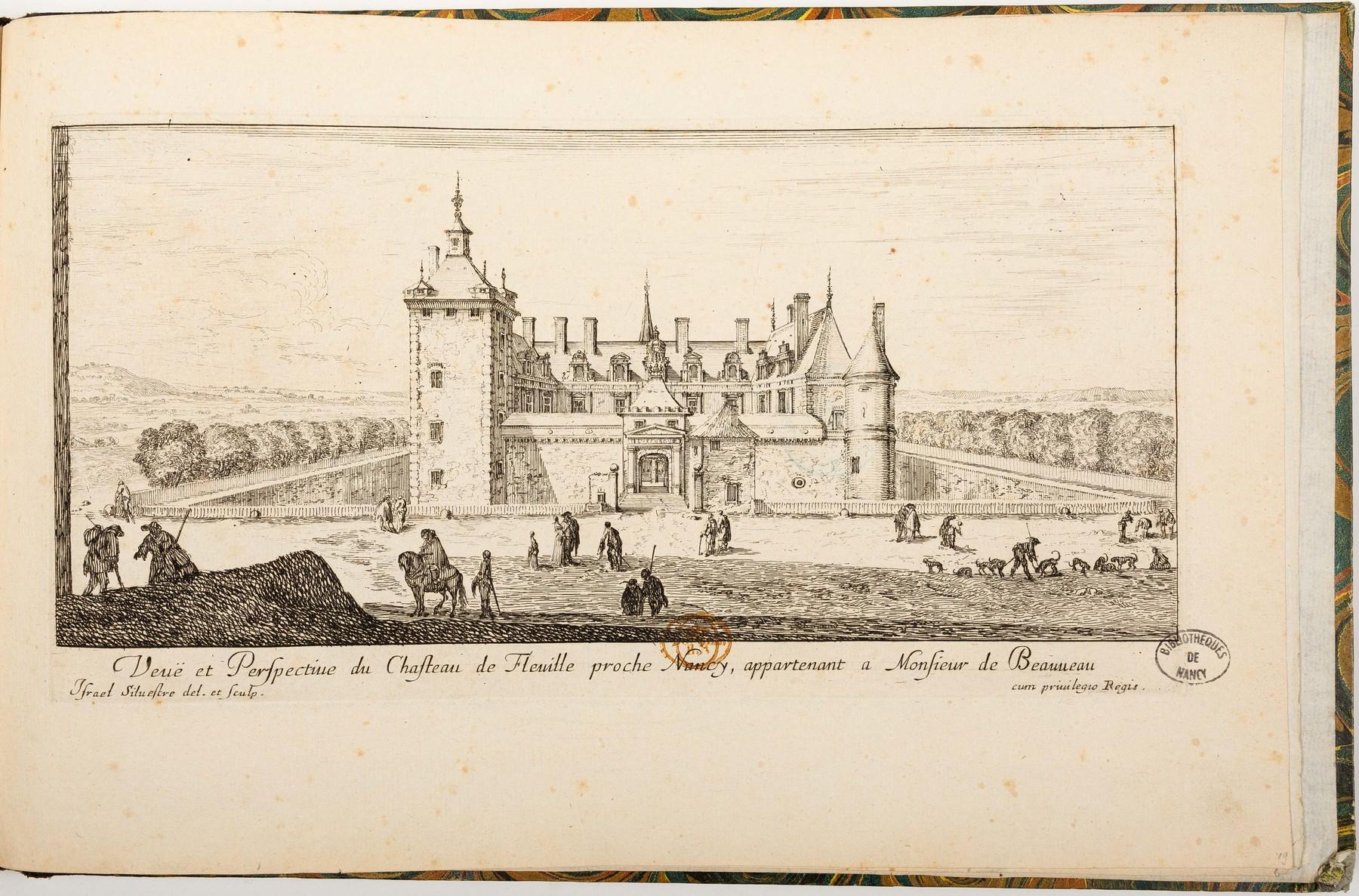 Contenu du Veuë et Perspective du Chasteau de Fleville proche Nancy, appartenant a Monsieur de Beauveau
