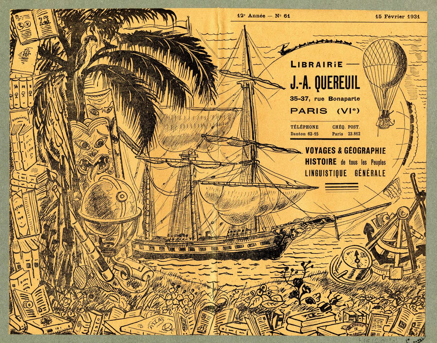 Contenu du Voyages & géographie. 12e année, No.61