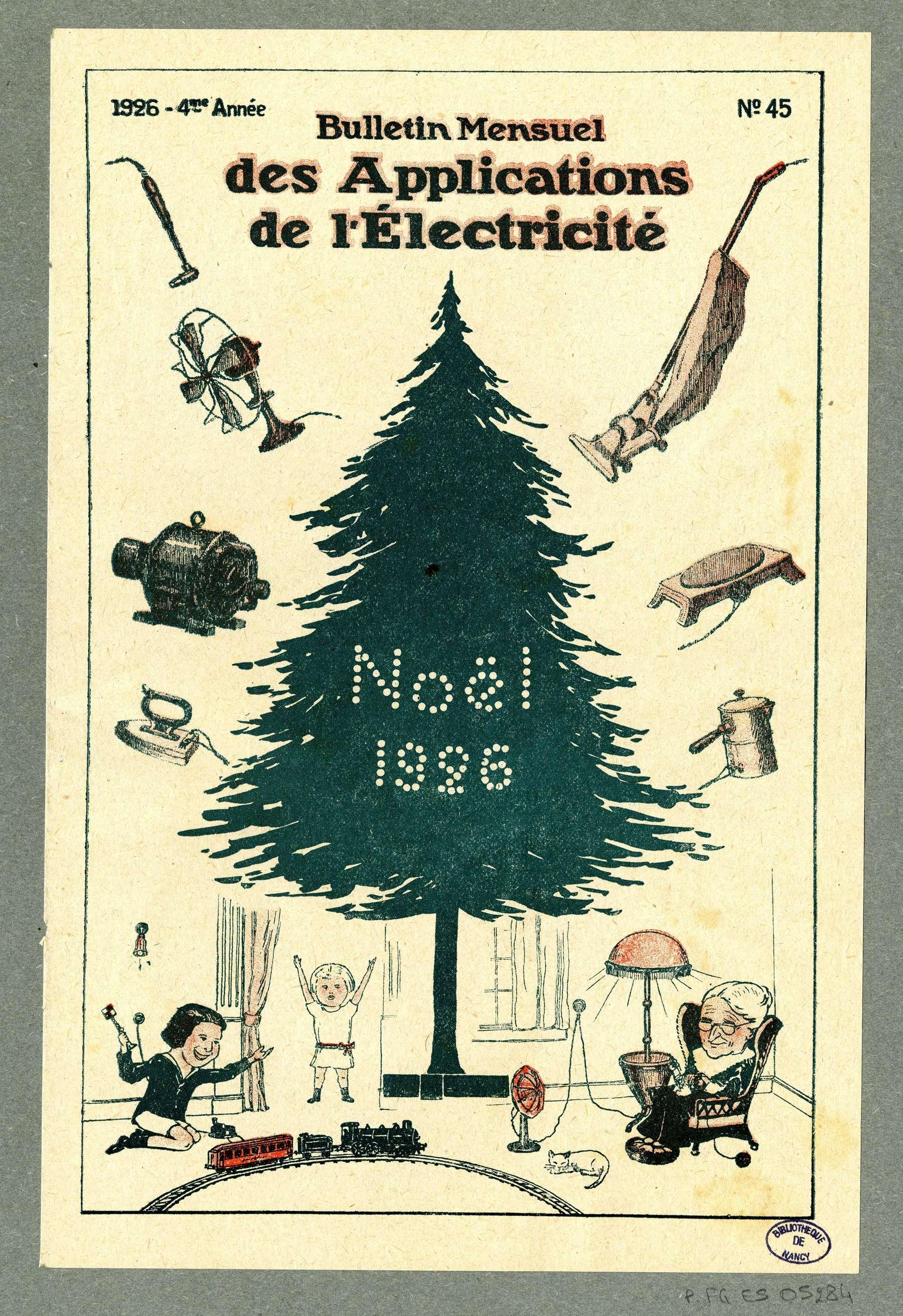 Contenu du Bulletin mensuel des applications de l'électricité. No.45