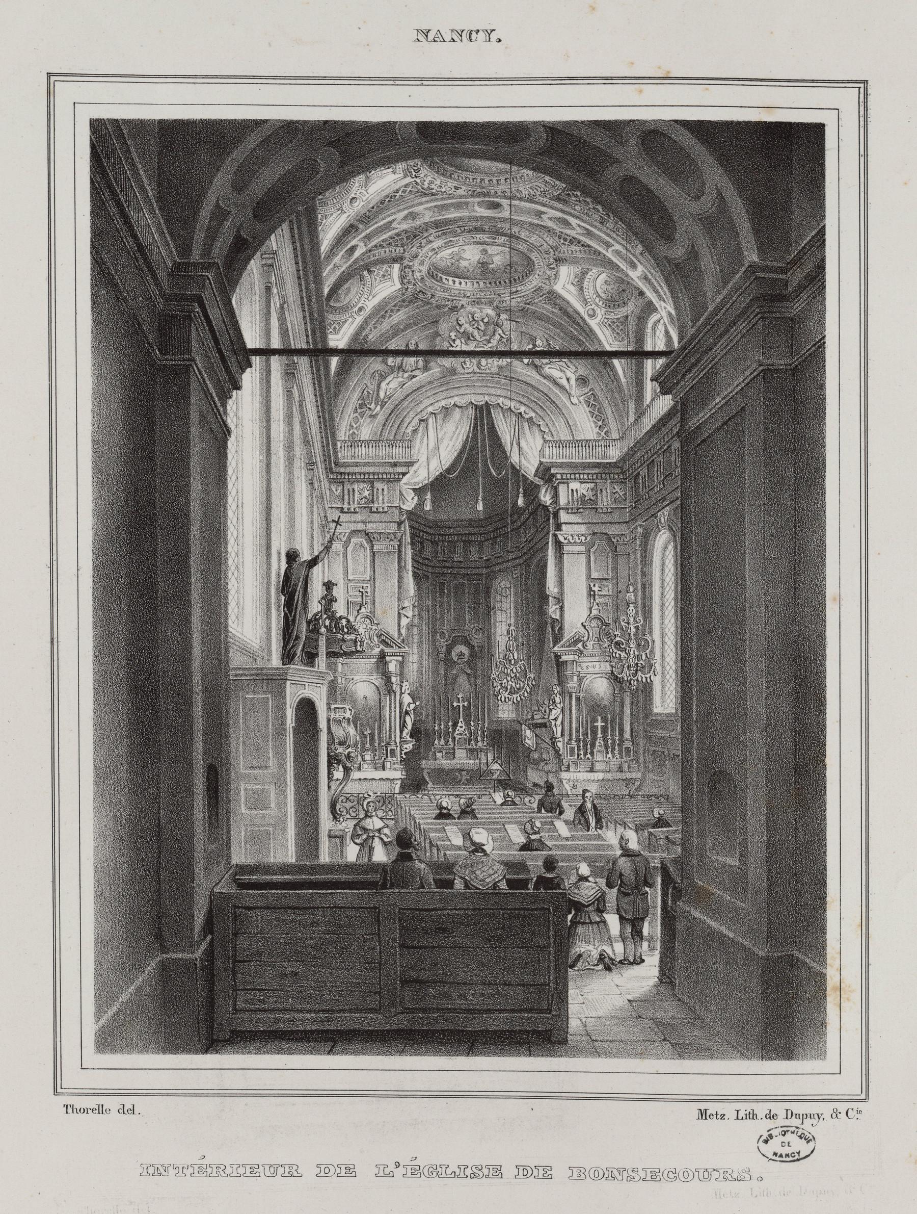 Contenu du Nancy : intérieur de l'église de Bonsecours