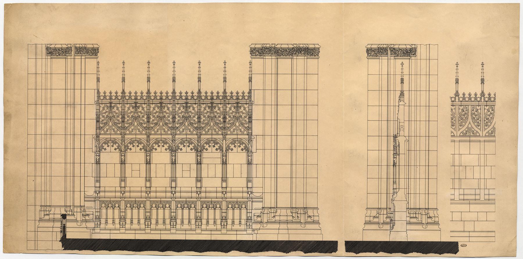 Contenu du Croquis de conception de la clôture du chœur