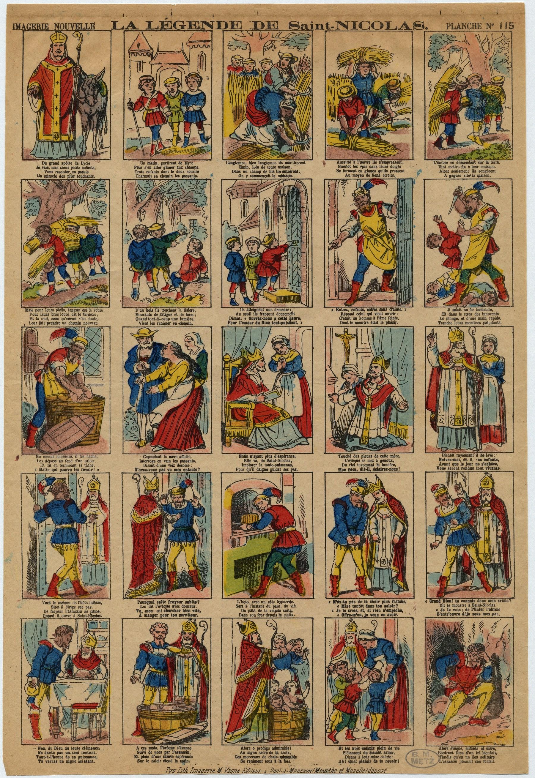 Contenu du La légende de Saint-Nicolas