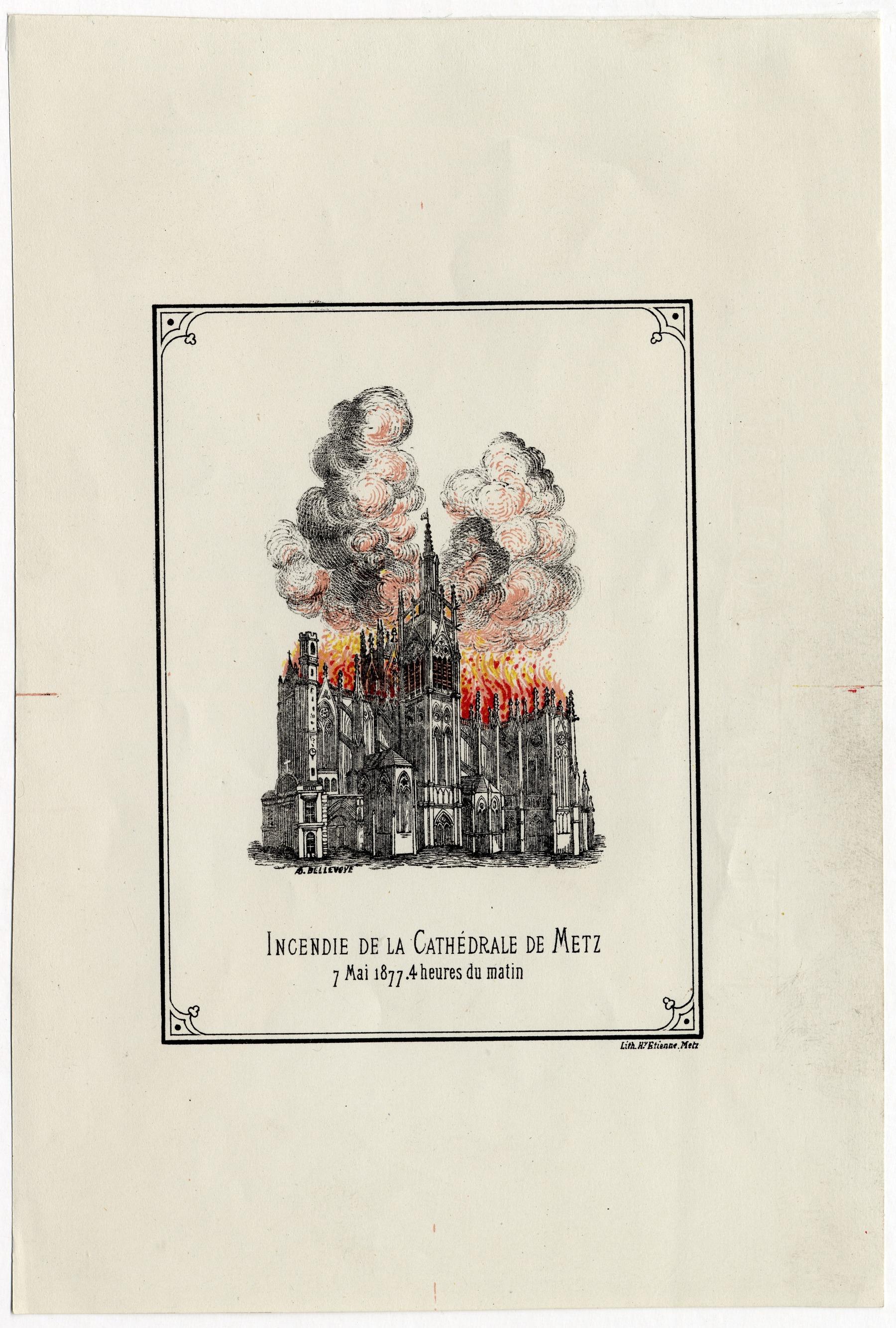 Contenu du Incendie de la cathédrale de Metz, 7 mai 1877, 4 heures du matin
