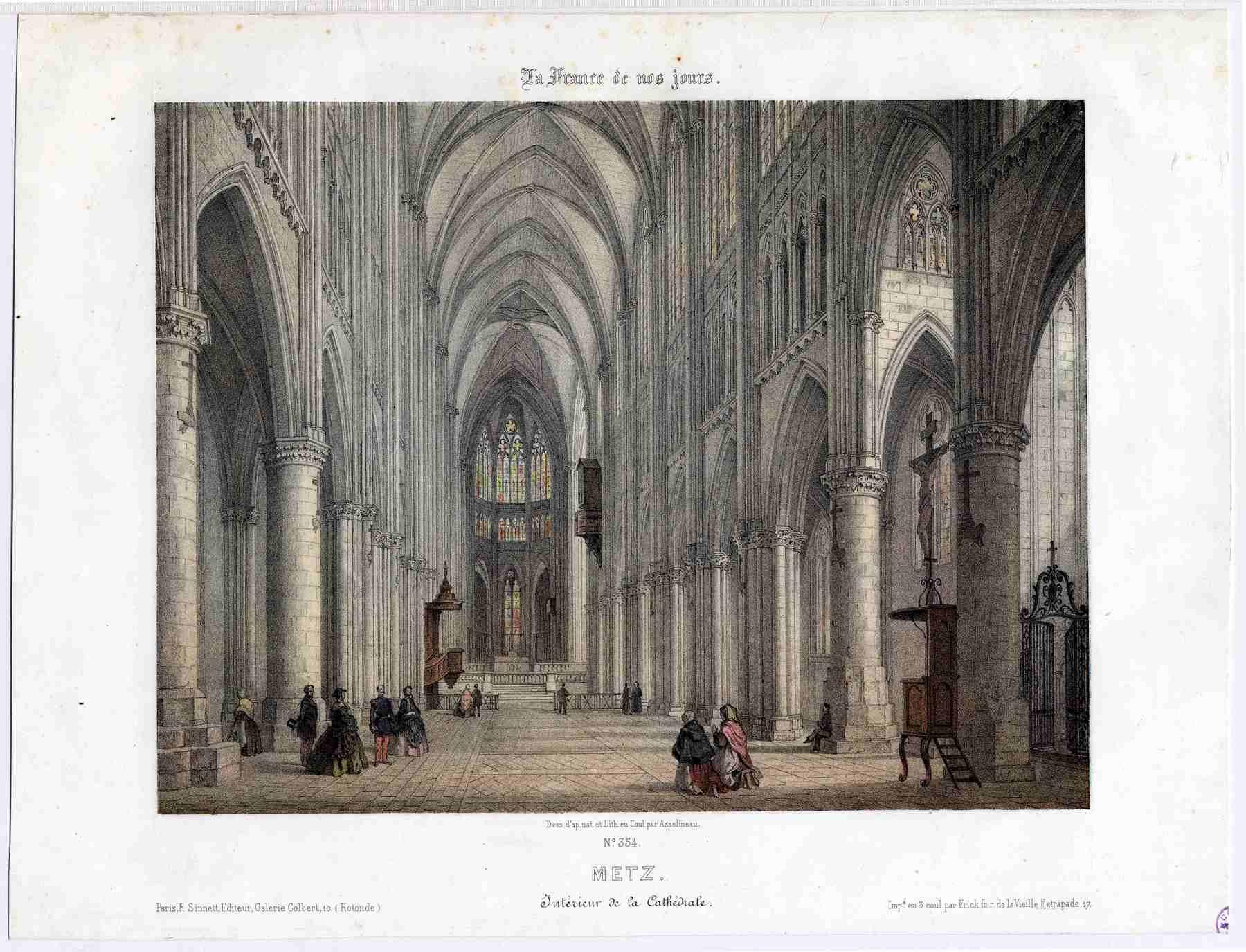 Contenu du La France de nos jours: Metz : intérieur de la cathédrale