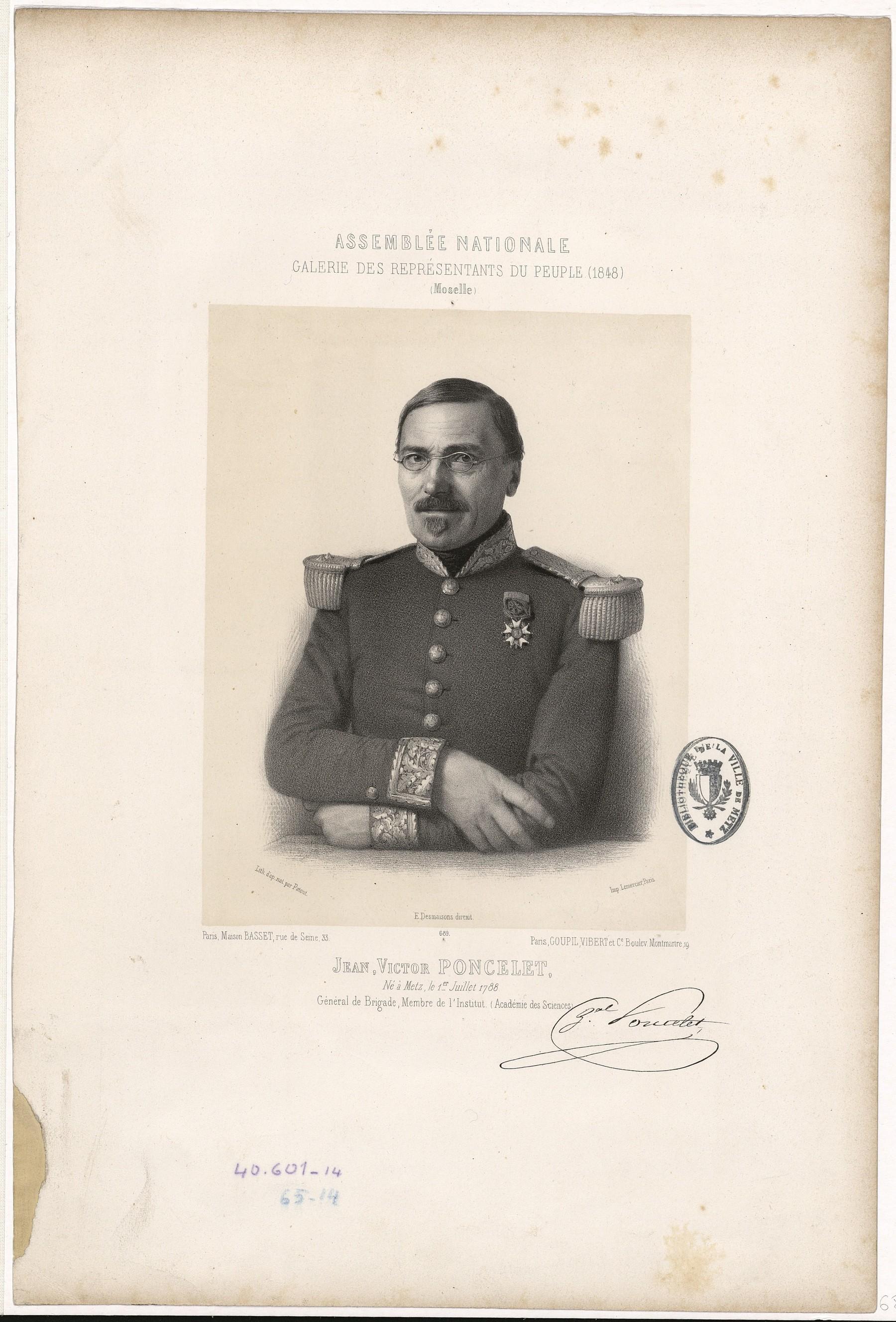 Contenu du Jean Victor Poncelet