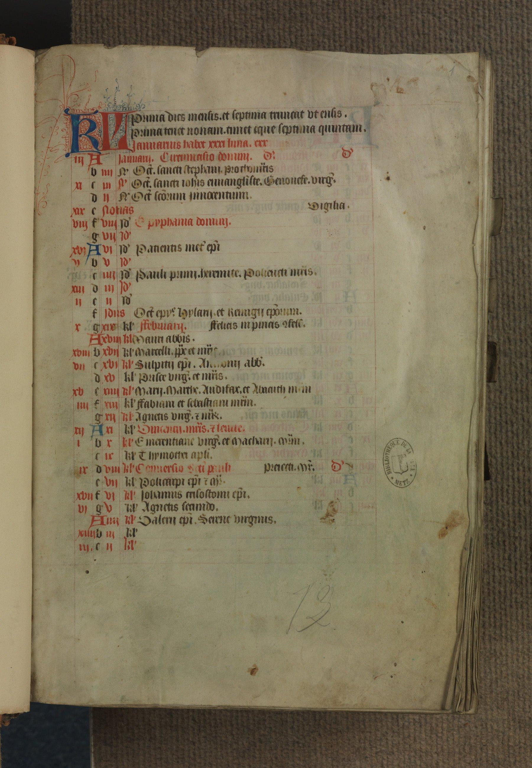 Contenu du Missale