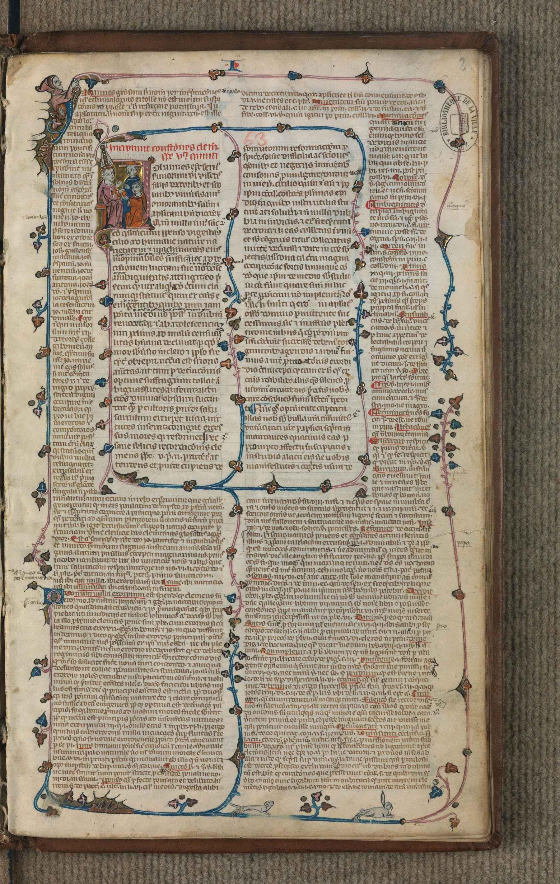 Contenu du Incipiunt Constitutiones Clementis pape V, cum apparatu Jo. Andreae