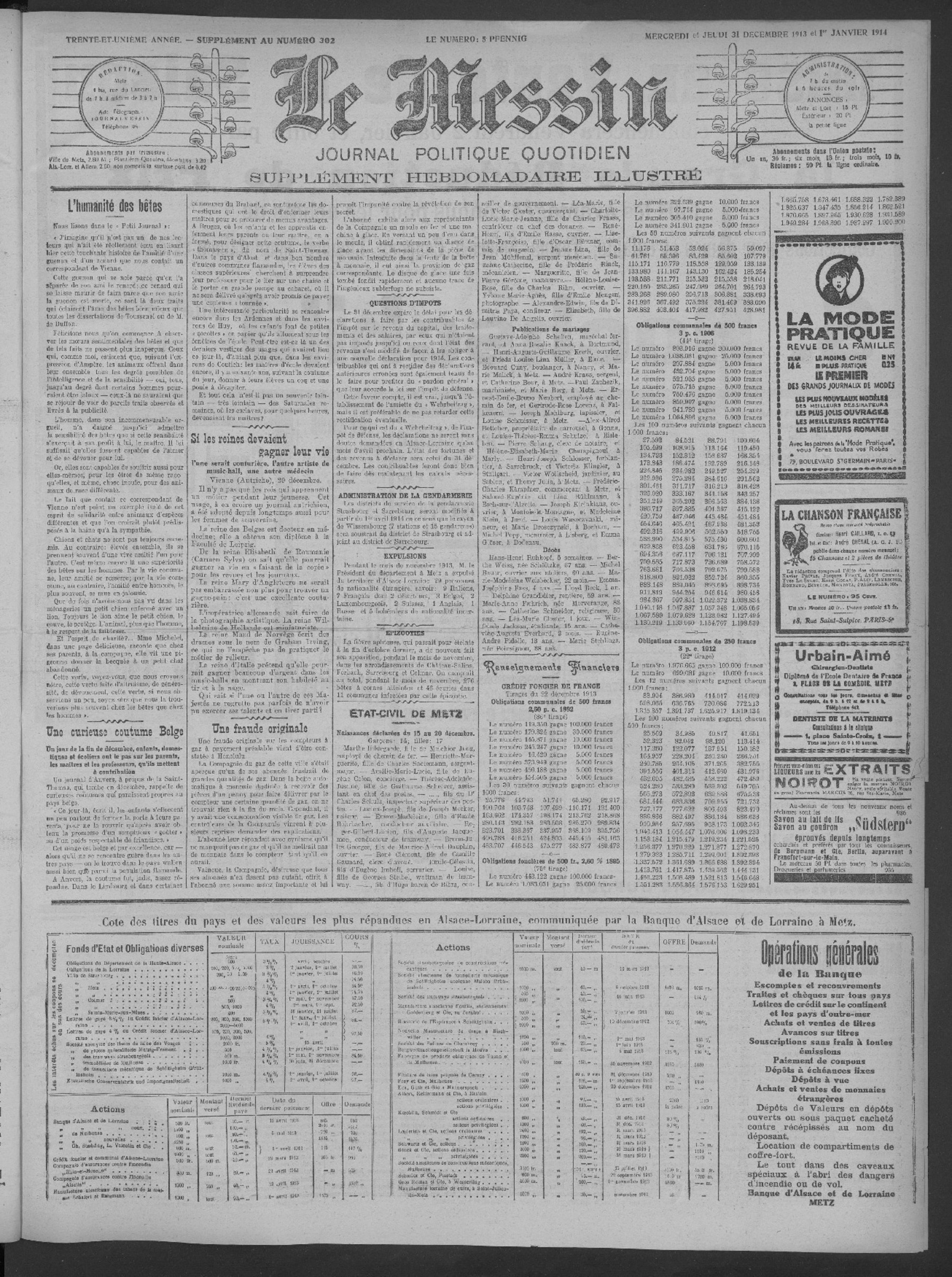Contenu du Le Messin: journal politique quotidien