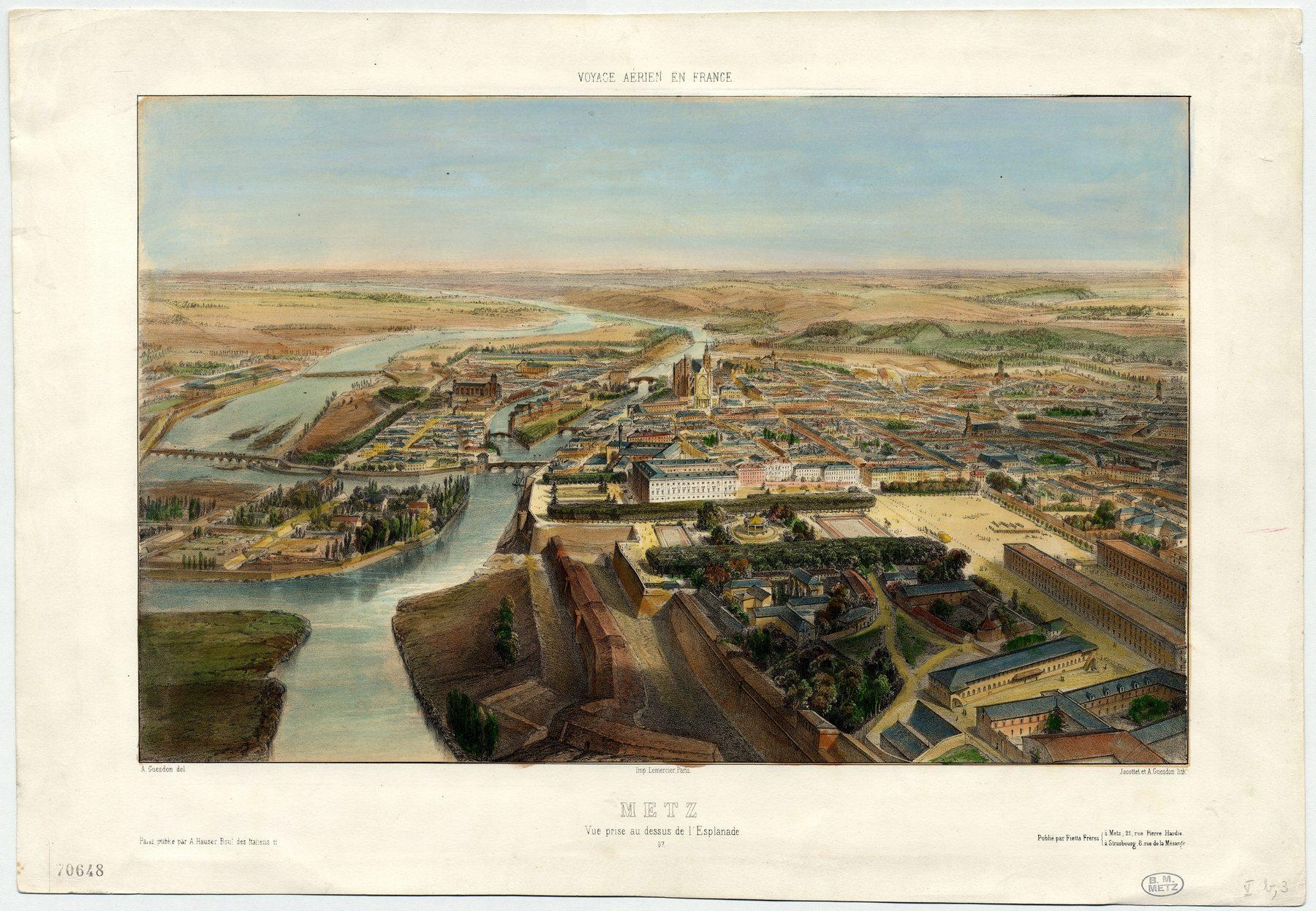 Contenu du Metz : vue prise au dessus de l'Esplanade