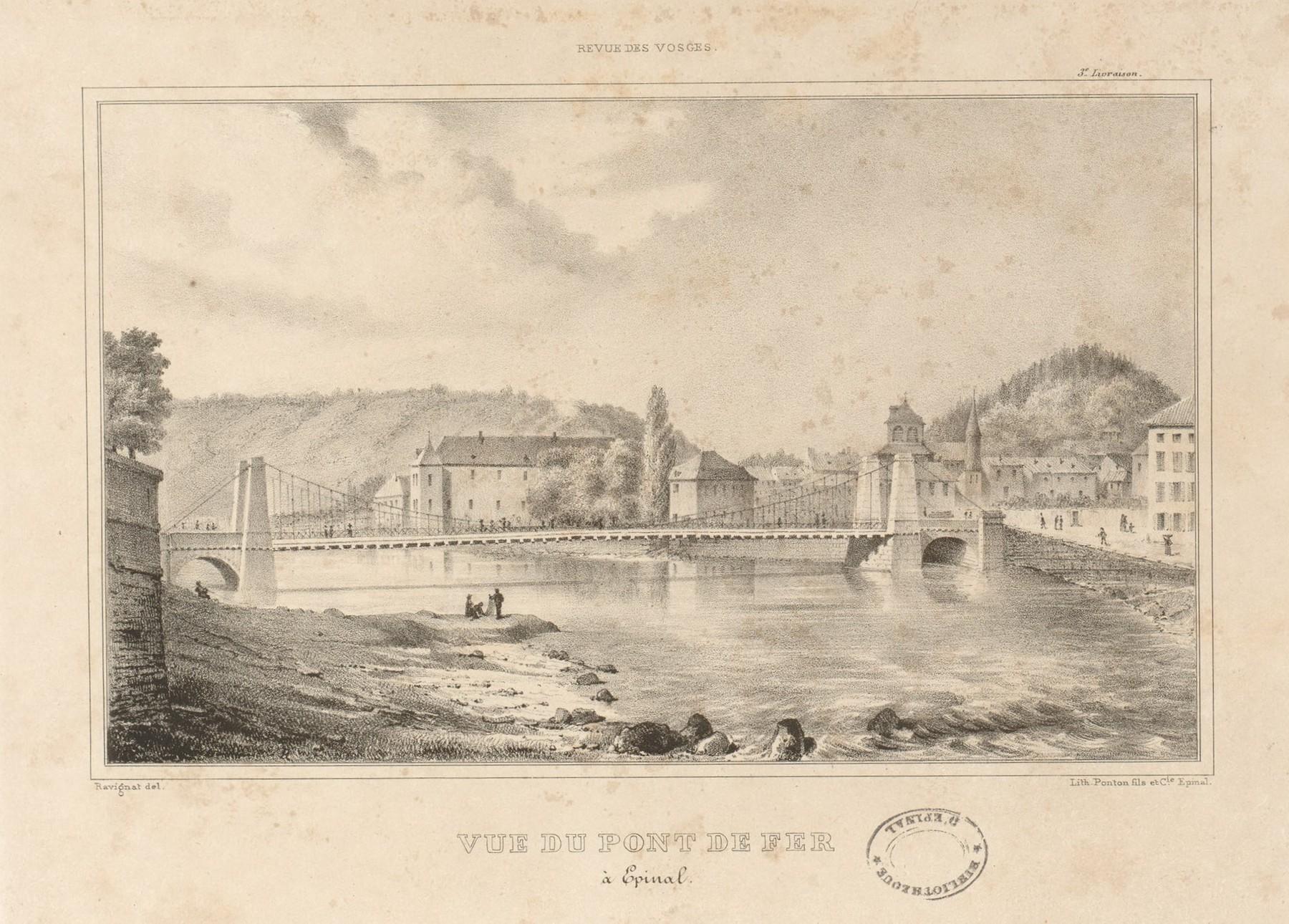 Contenu du Vue du pont de fer (à Épinal)