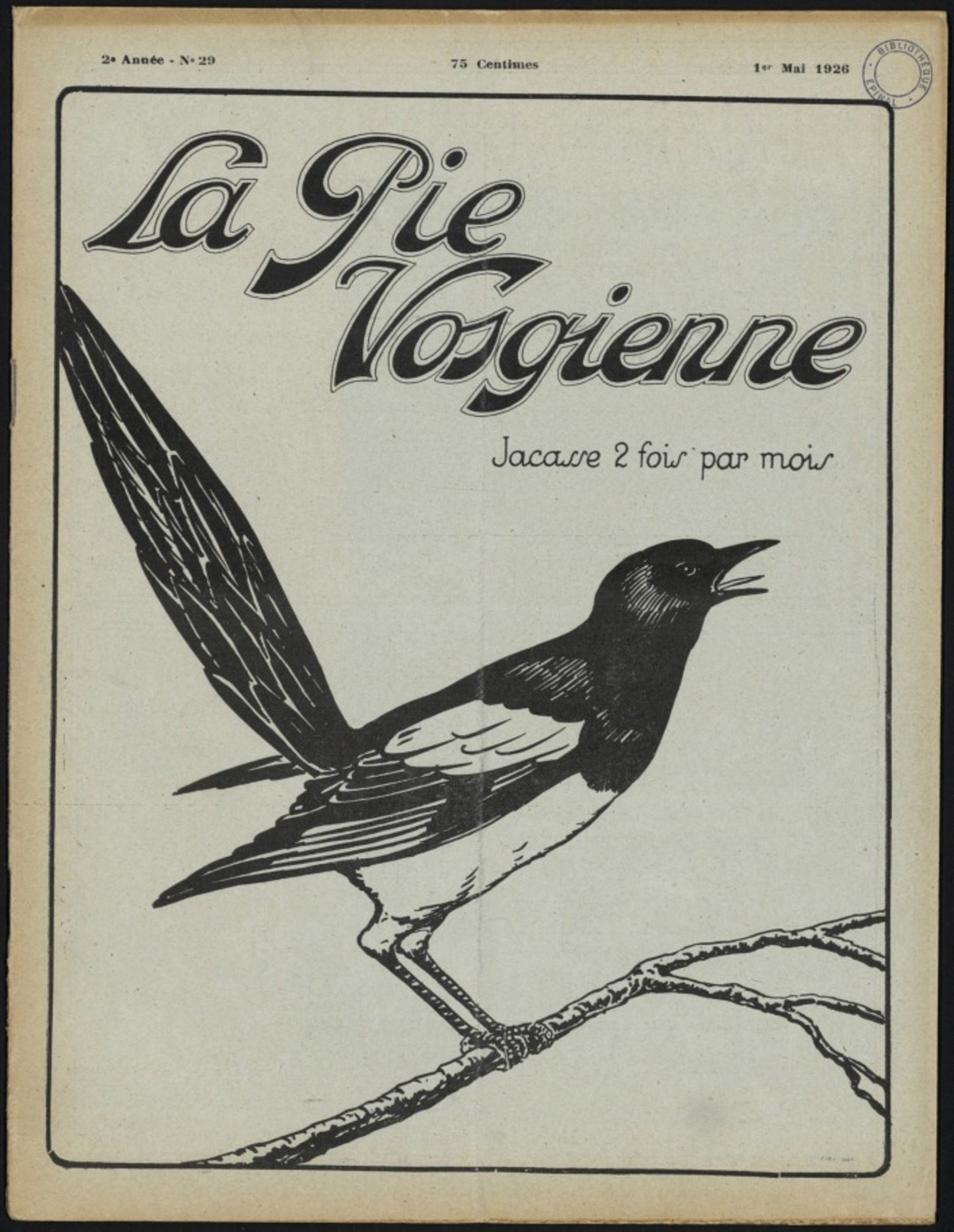Contenu du La Pie vosgienne