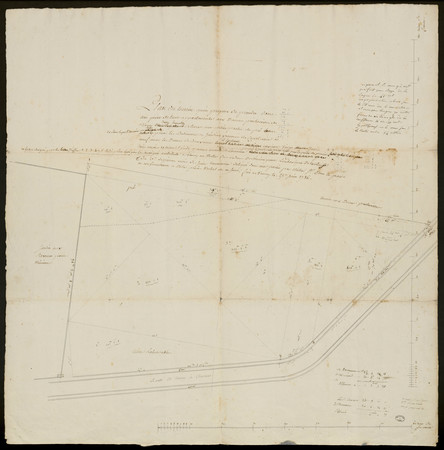 Plan du terrein qu'on propose de prendre dans une pièce  de terre apparten…