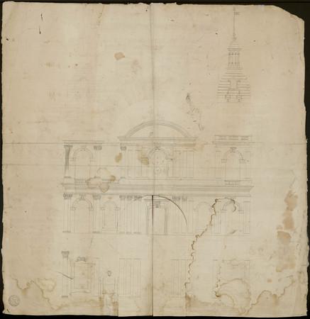 Élévation de la façade de la cathédrale