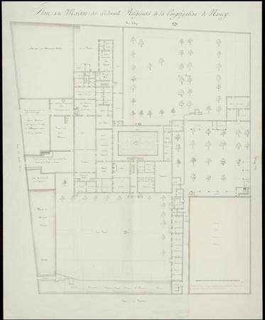 Plan de la maison des ci-devant Religieuses de la Congrégation de Nancy