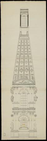 Élévation de l'intérieur de la chapelle ronde des Cordeliers