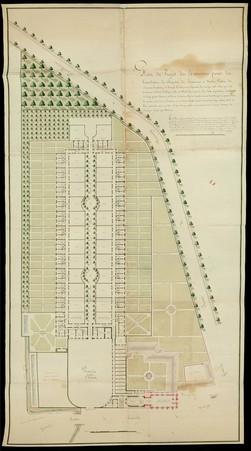 Plan du projet des bâtiments pour la translation du chapitre de Bouxières …
