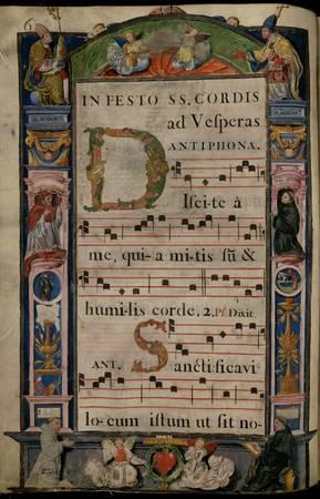 Encadrement : pères de l'Eglise et saints moines franciscains (o