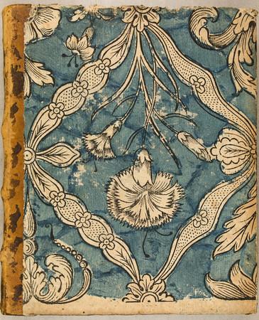Papier dominoté à décor floral