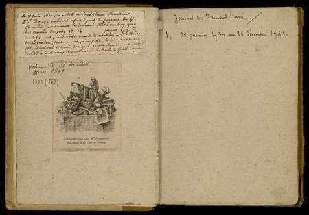 Journal de Durival l'aîné. 1 : 28 janvier 1737 - 26 décembre 1745