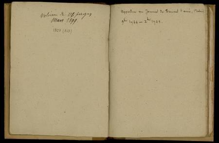 Journal de Durival l'aîné. Appendice, 1er cahier : novembre 1744-décembre …
